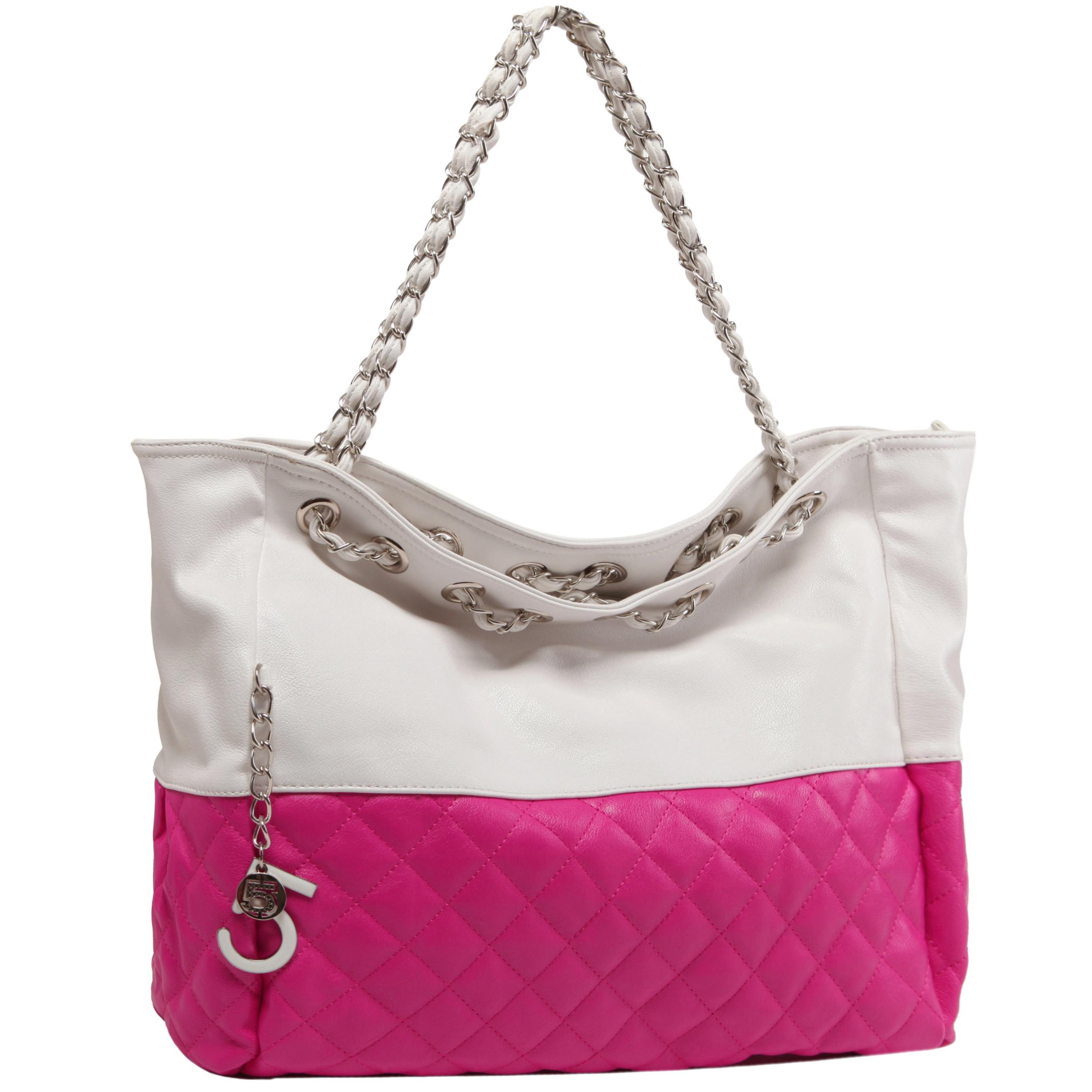 CAMRYN Pink Shoulder Tote Handbag main