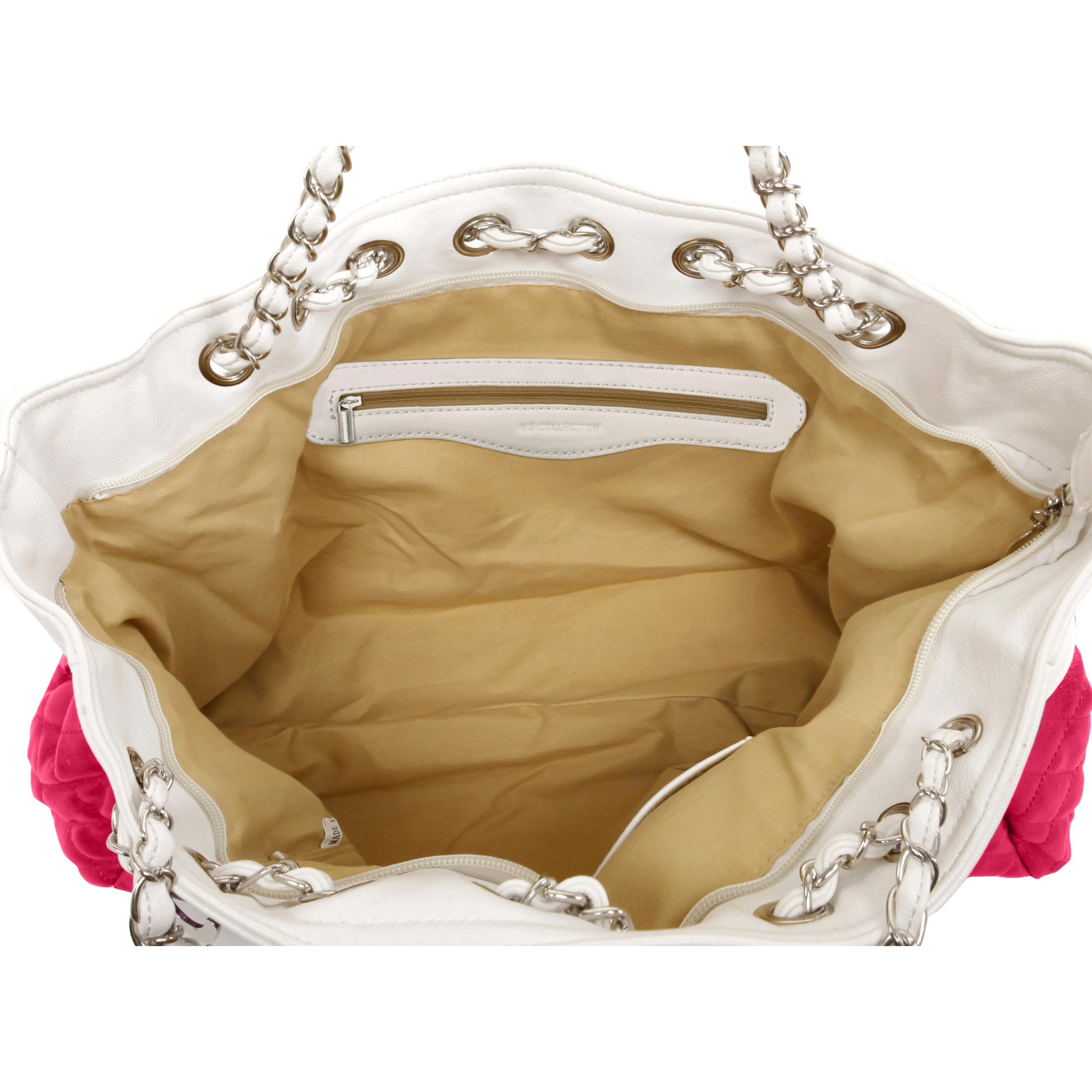 CAMRYN Pink Shoulder Tote Handbag Interior