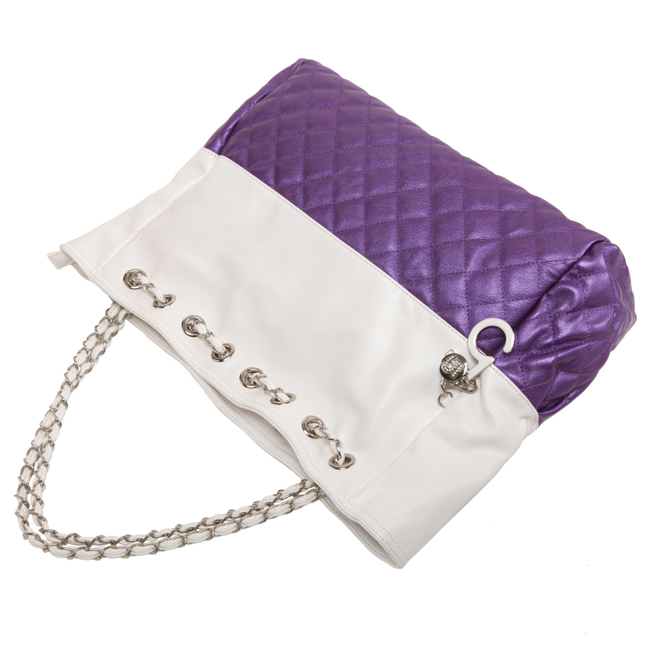 CAMRYN Purple Shoulder Weekender Tote handbag handle