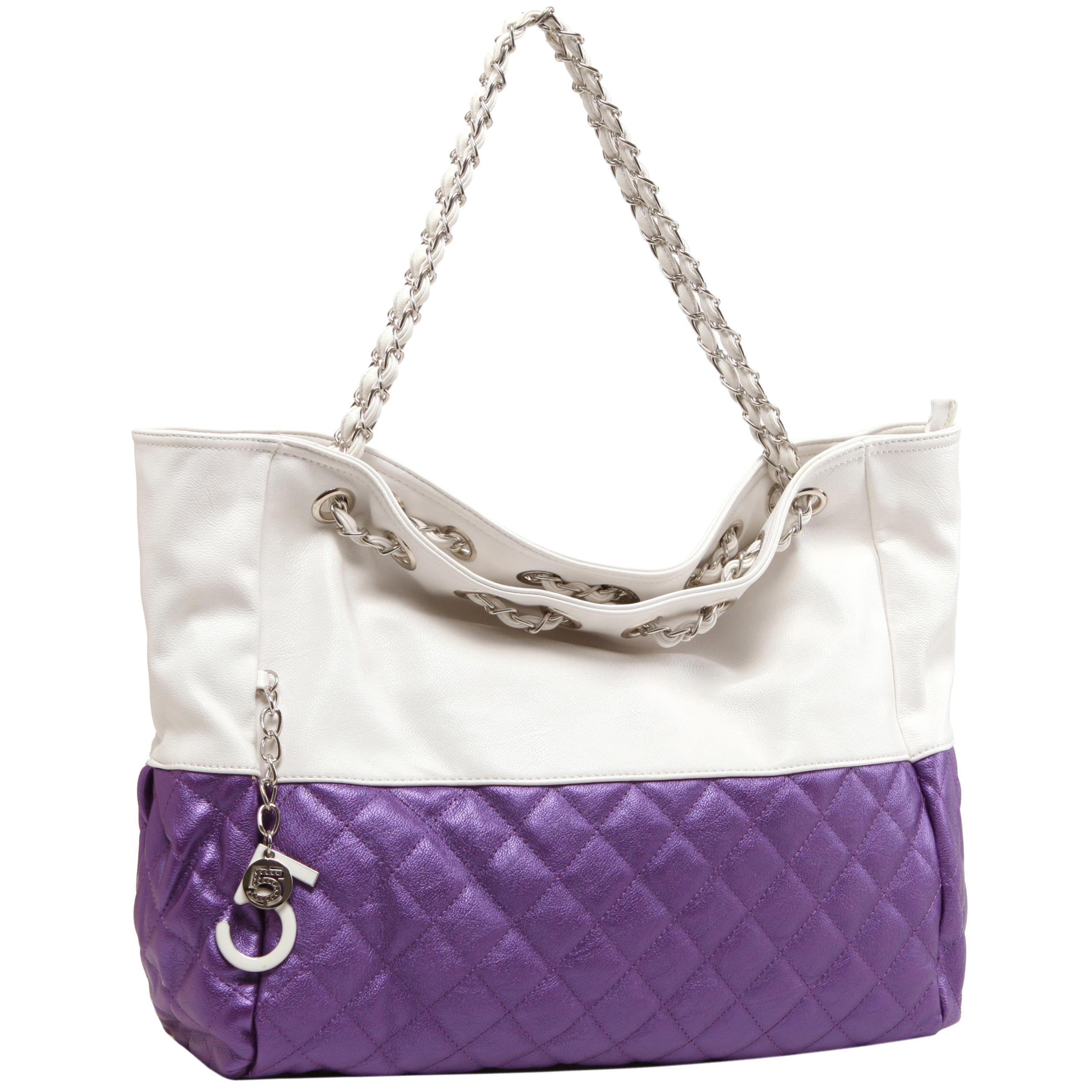 CAMRYN Purple Shoulder Weekender Tote handbag main