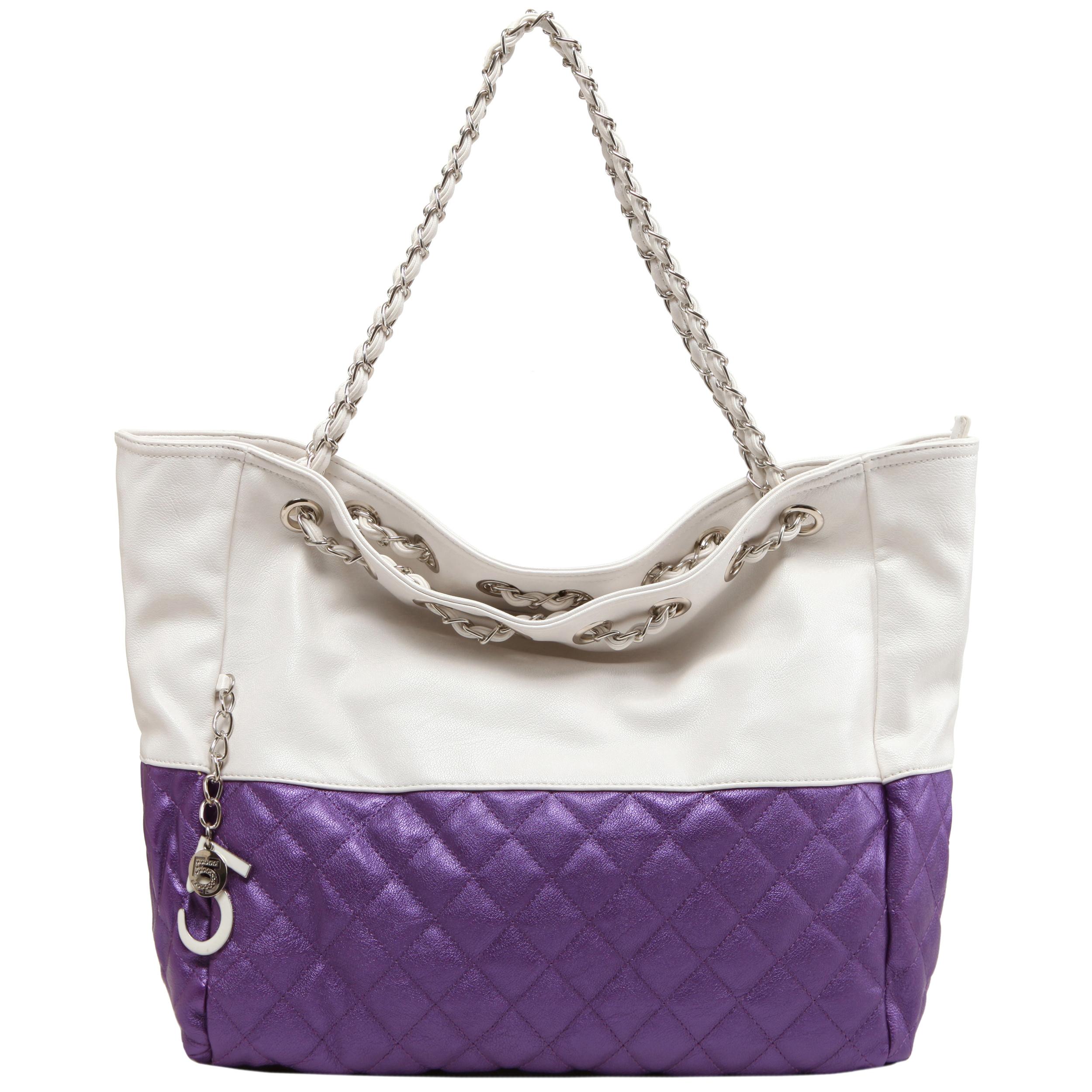 CAMRYN Purple Shoulder Weekender Tote handbag front