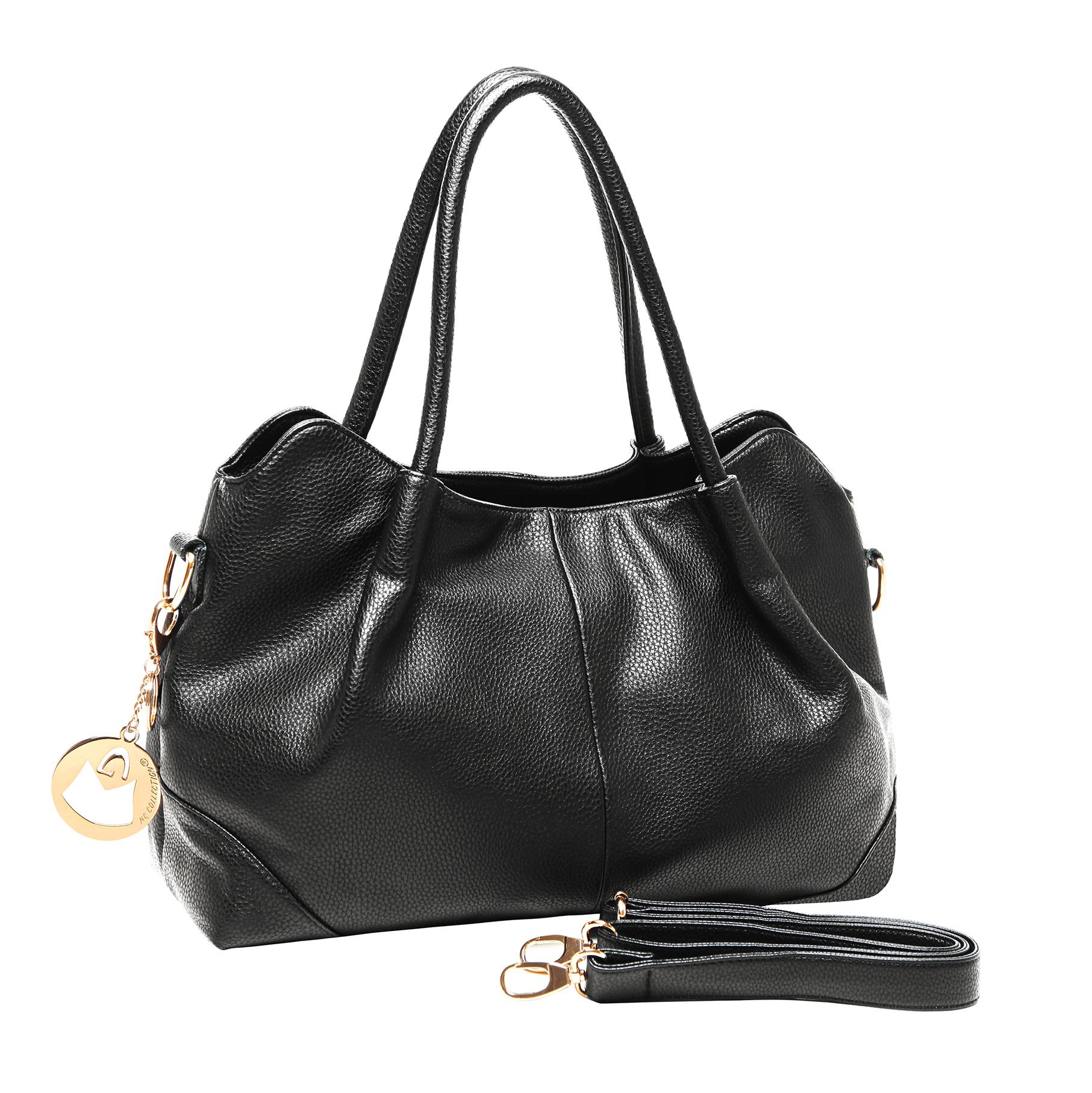 ASSA Black Classic Top Handle Shoulder Bag Handbag handle