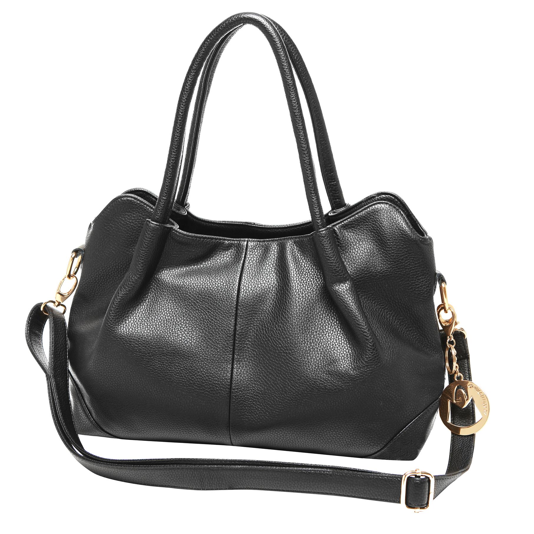 ASSA Black Classic Top Handle Shoulder Bag Handbag main