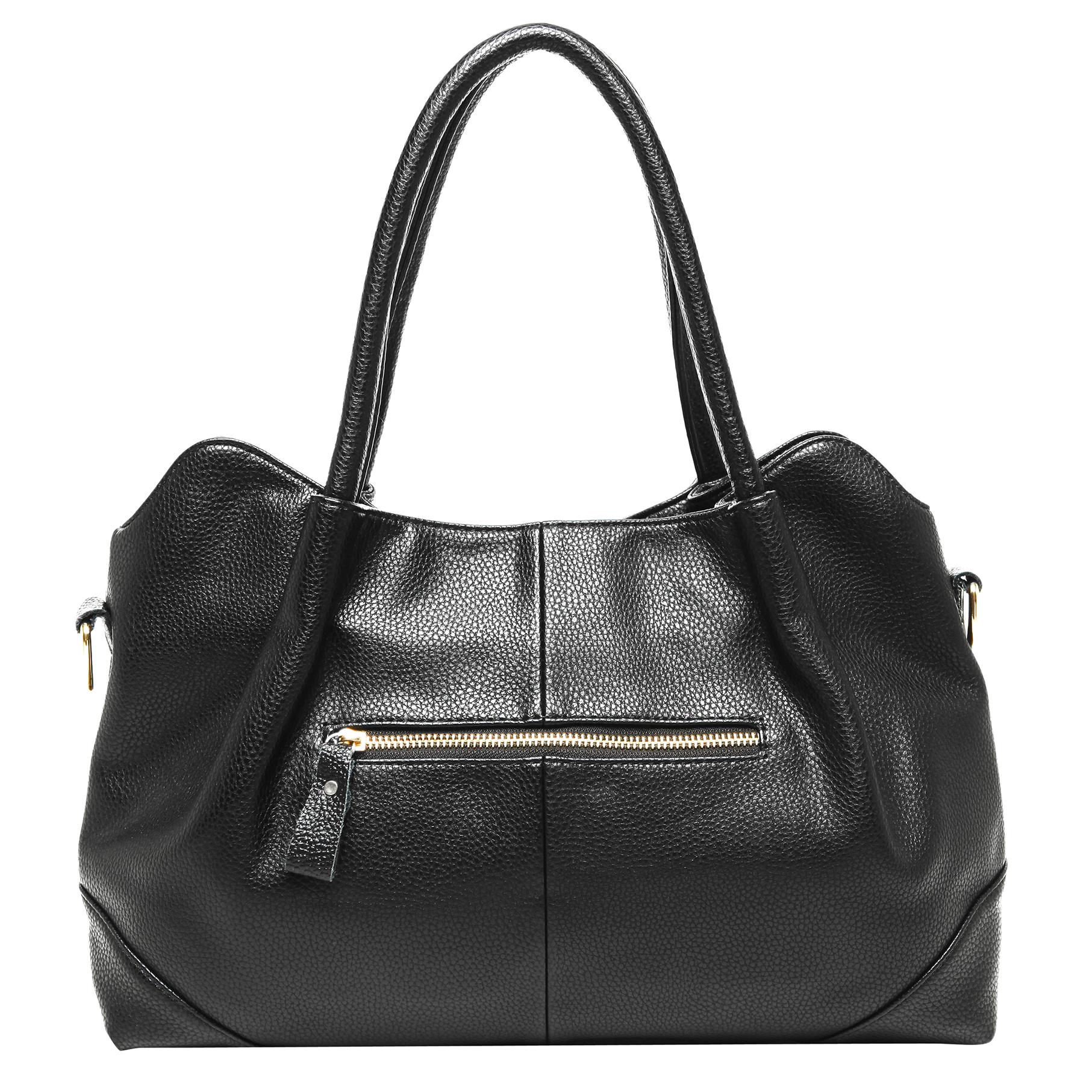 ASSA Black Classic Top Handle Shoulder Bag Handbag back