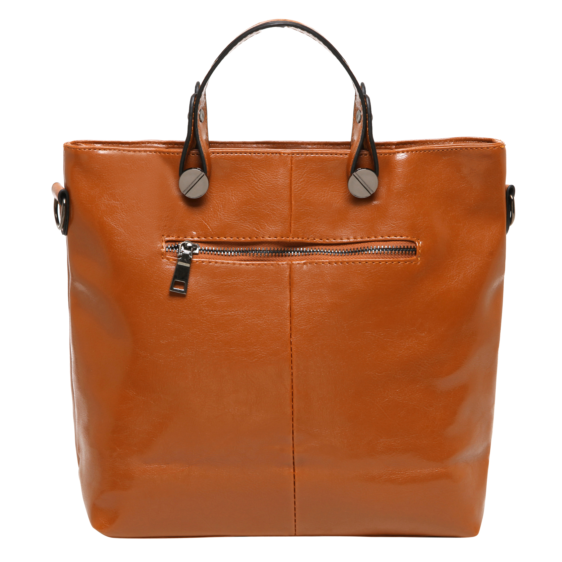 ALDIS Brown Top Handle Office Tote Handbag back