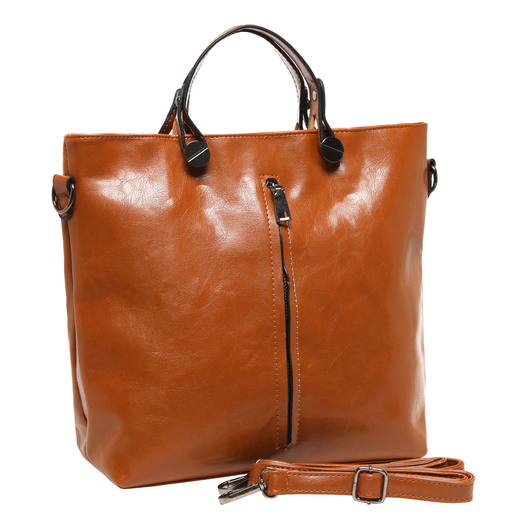 ALDIS Brown Top Handle Office Tote Handbag main