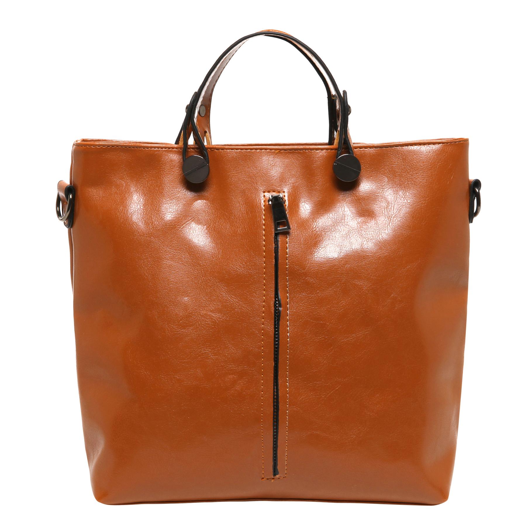 ALDIS Brown Top Handle Office Tote Handbag front