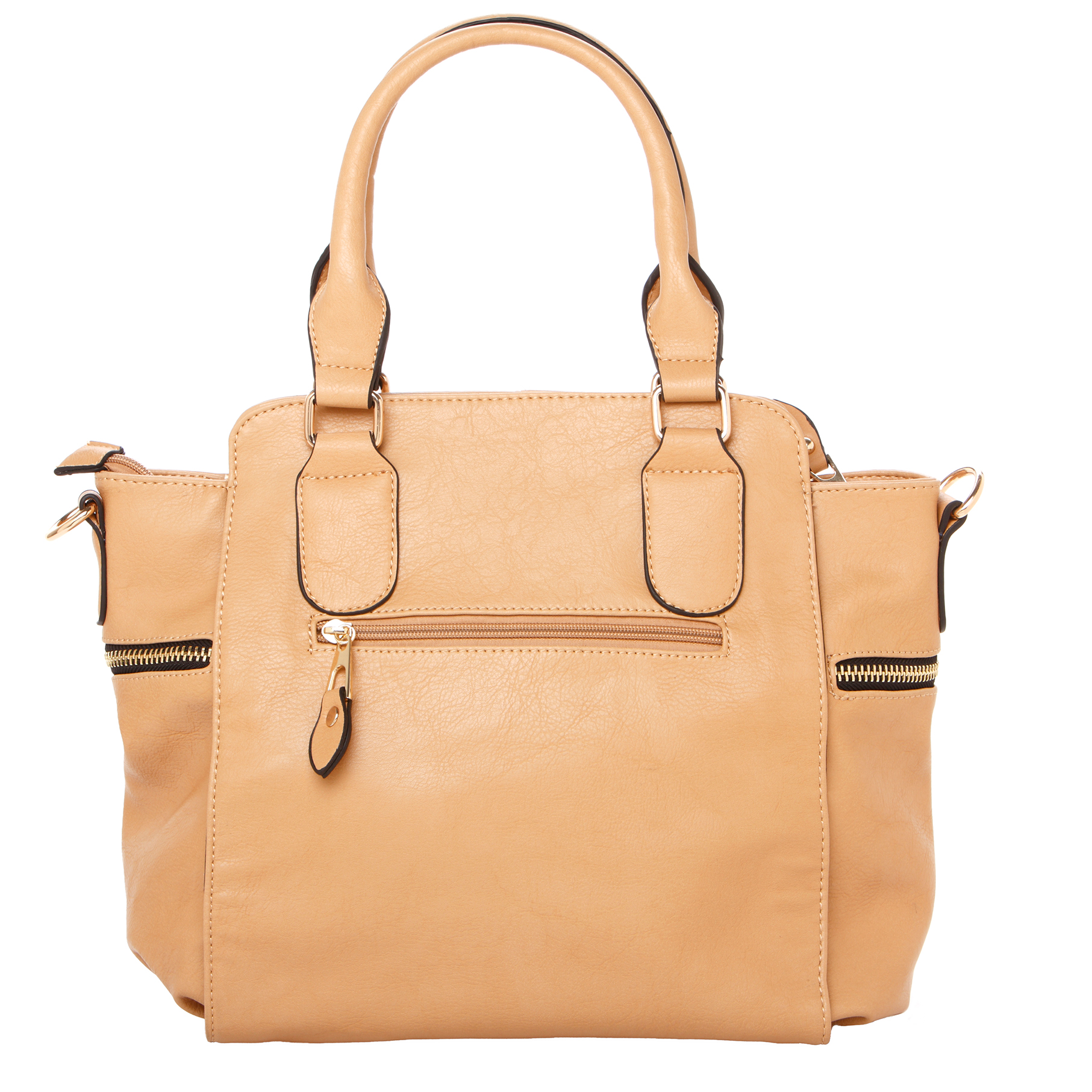 NORI Apricot Top Handle Office Tote Style Handbag back