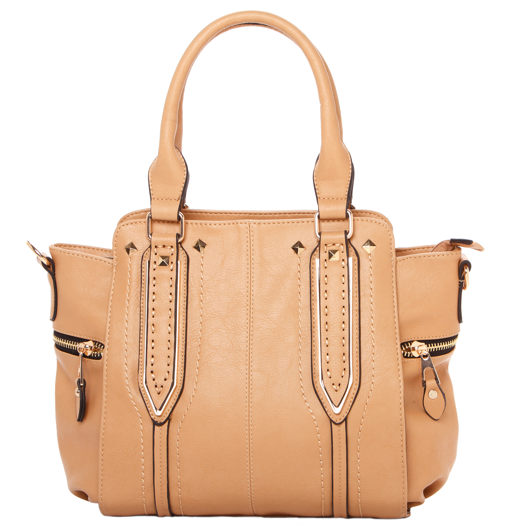 NORI Apricot Top Handle Office Tote Style Handbag front