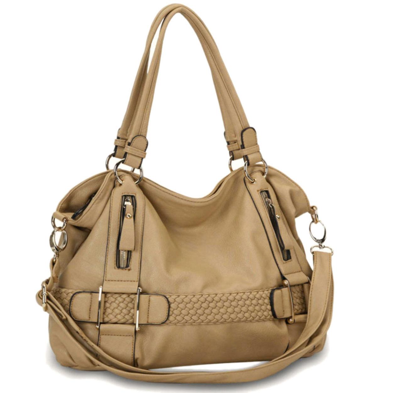 SAMANTHA Beige Soft Hobo handbag 1