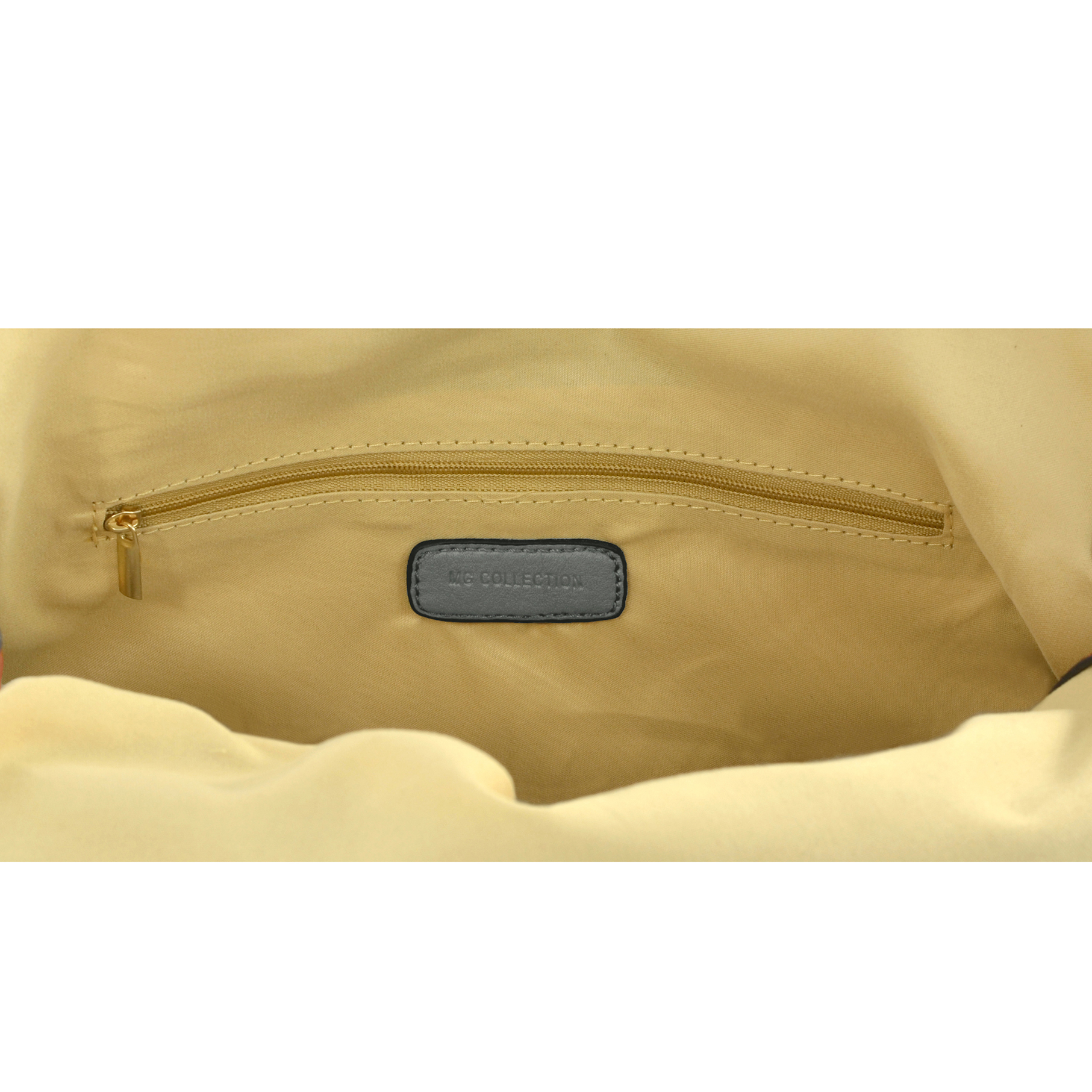 SAMANTHA Dark Grey Weave Pattern Soft Hobo Handbag inside
