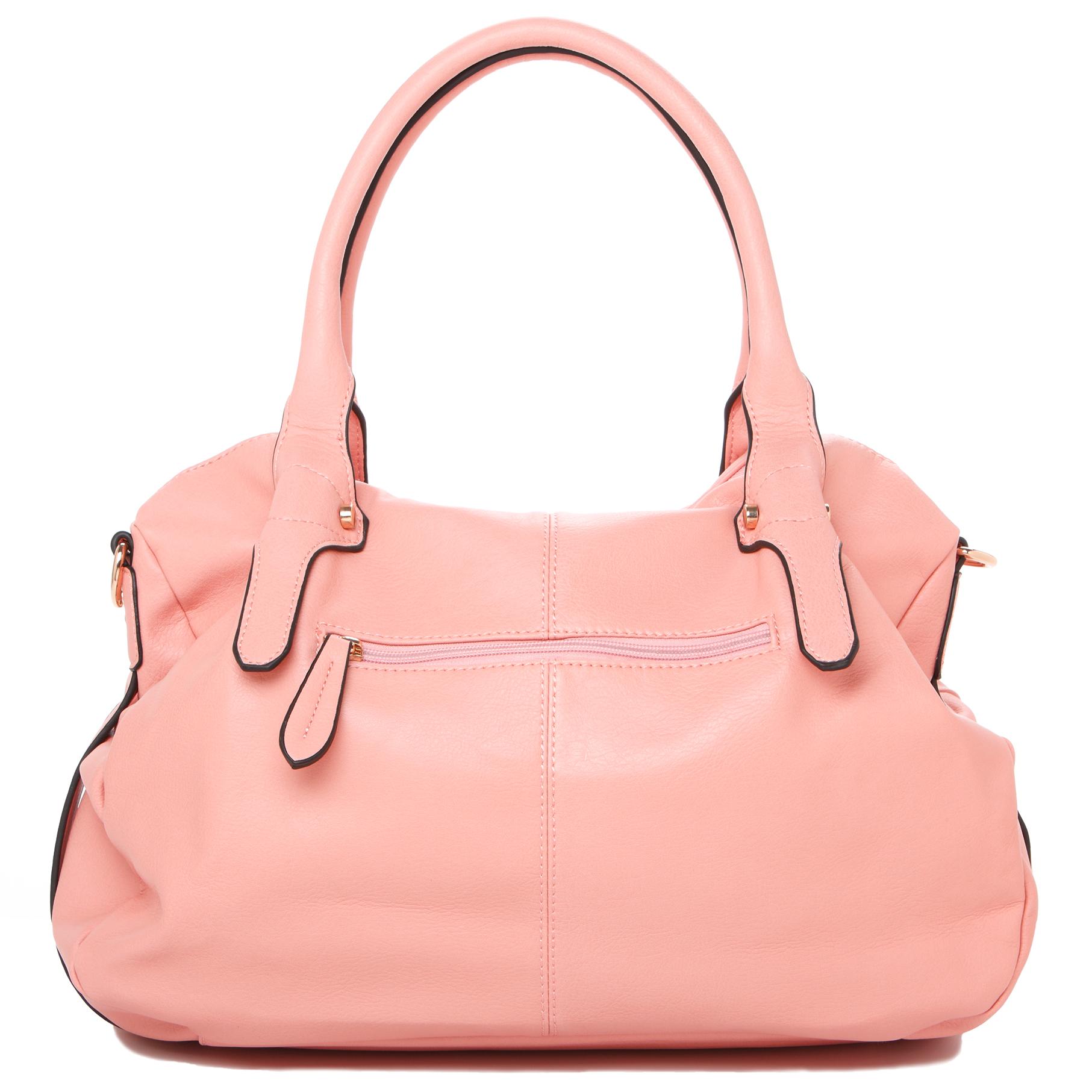 CAME Pink Office Tote Style Satchel Handbag Back