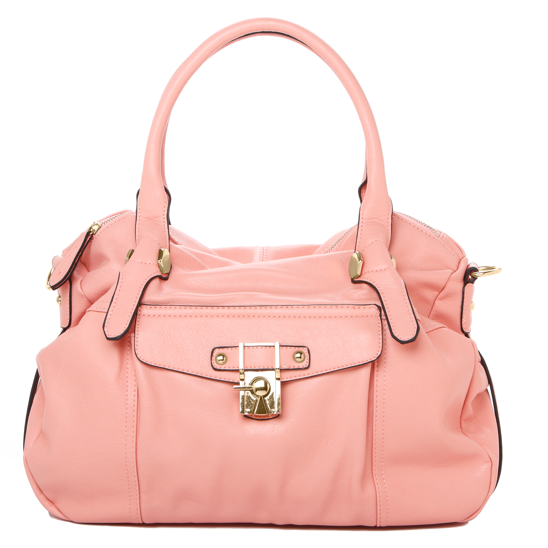 CAME Pink Office Tote Style Satchel Handbag Front