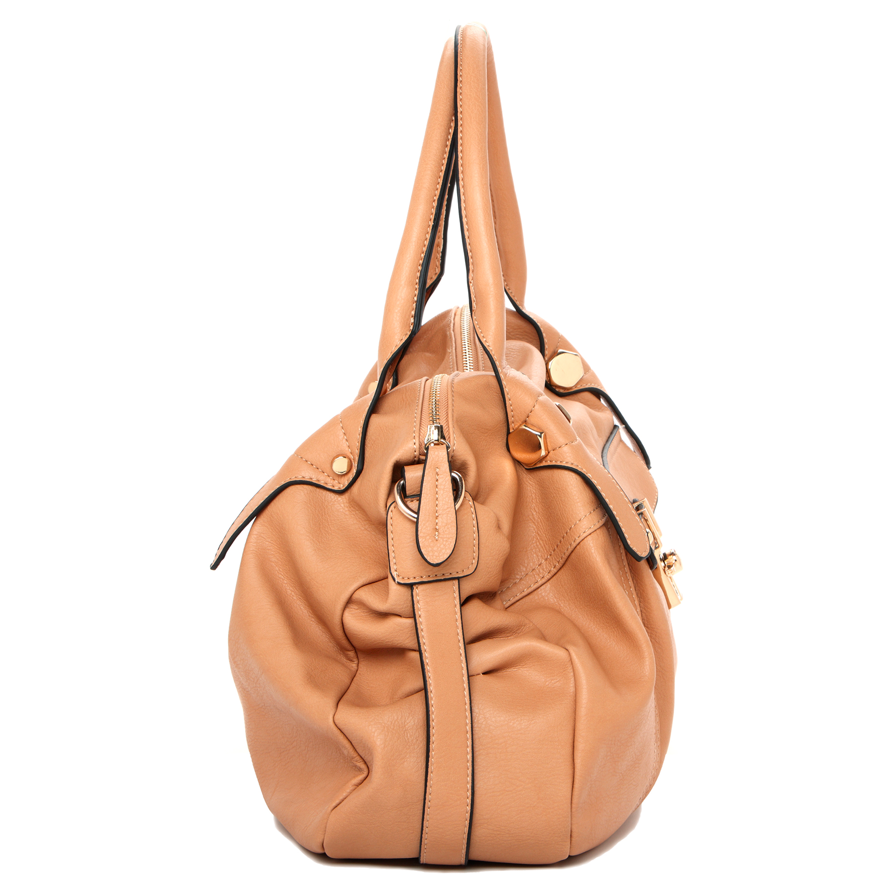 CAME Apricot Office Tote Style Satchel Handbag Side