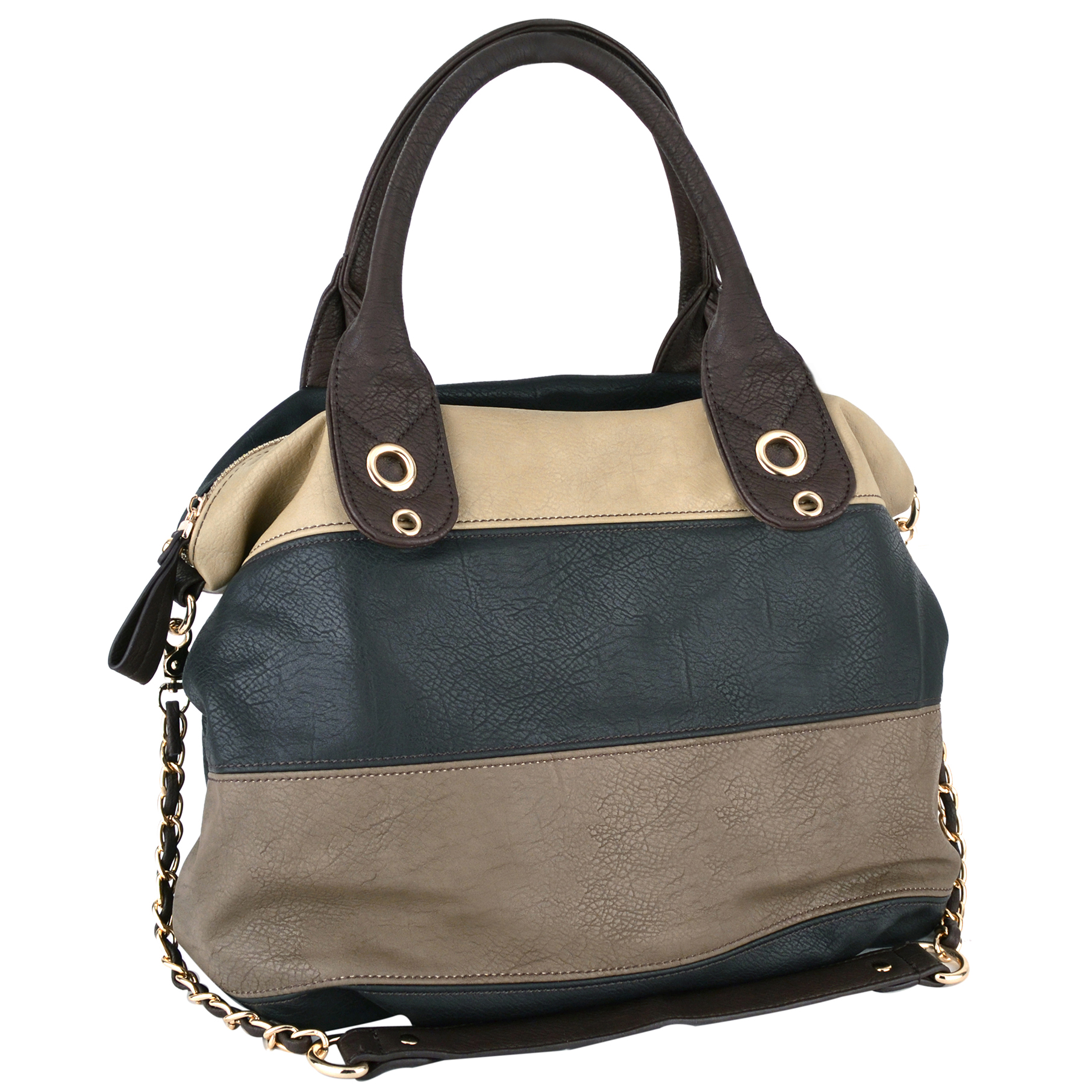 MAYA Black Large Shopper Hobo Handbag Main