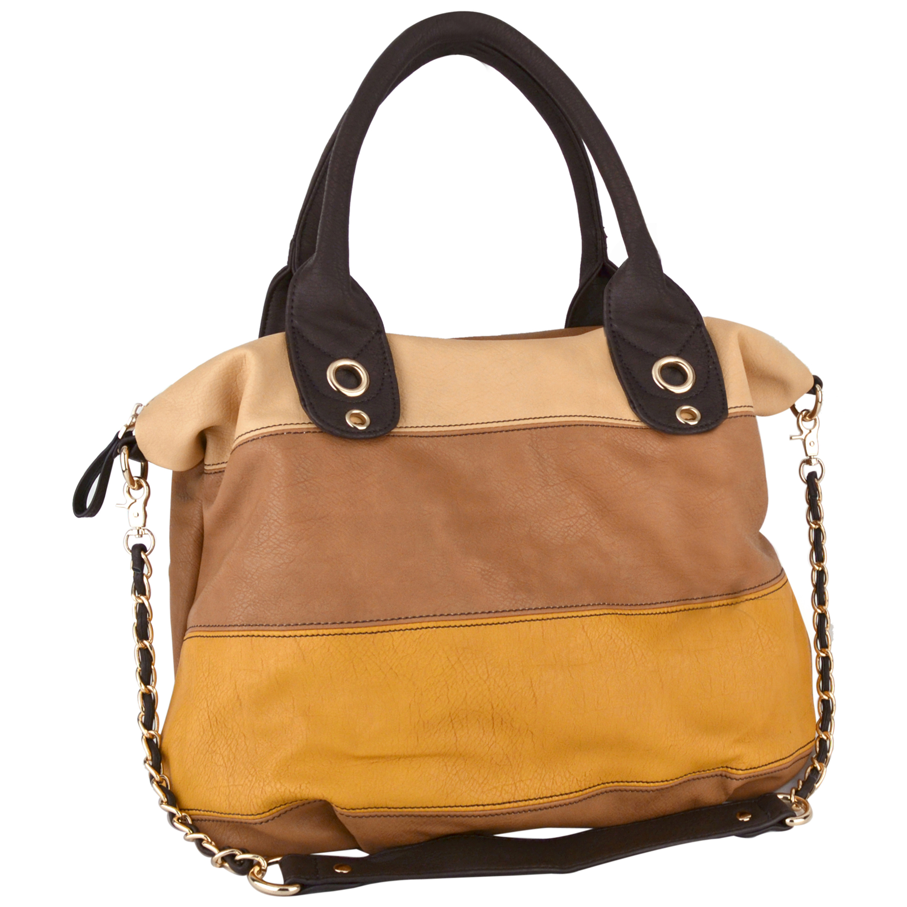 MAYA Taupe Large Shopper Hobo Handbag Main