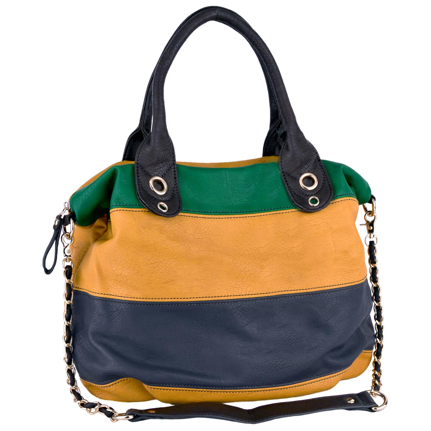 MAYA Yellow Hobo Handbag Main