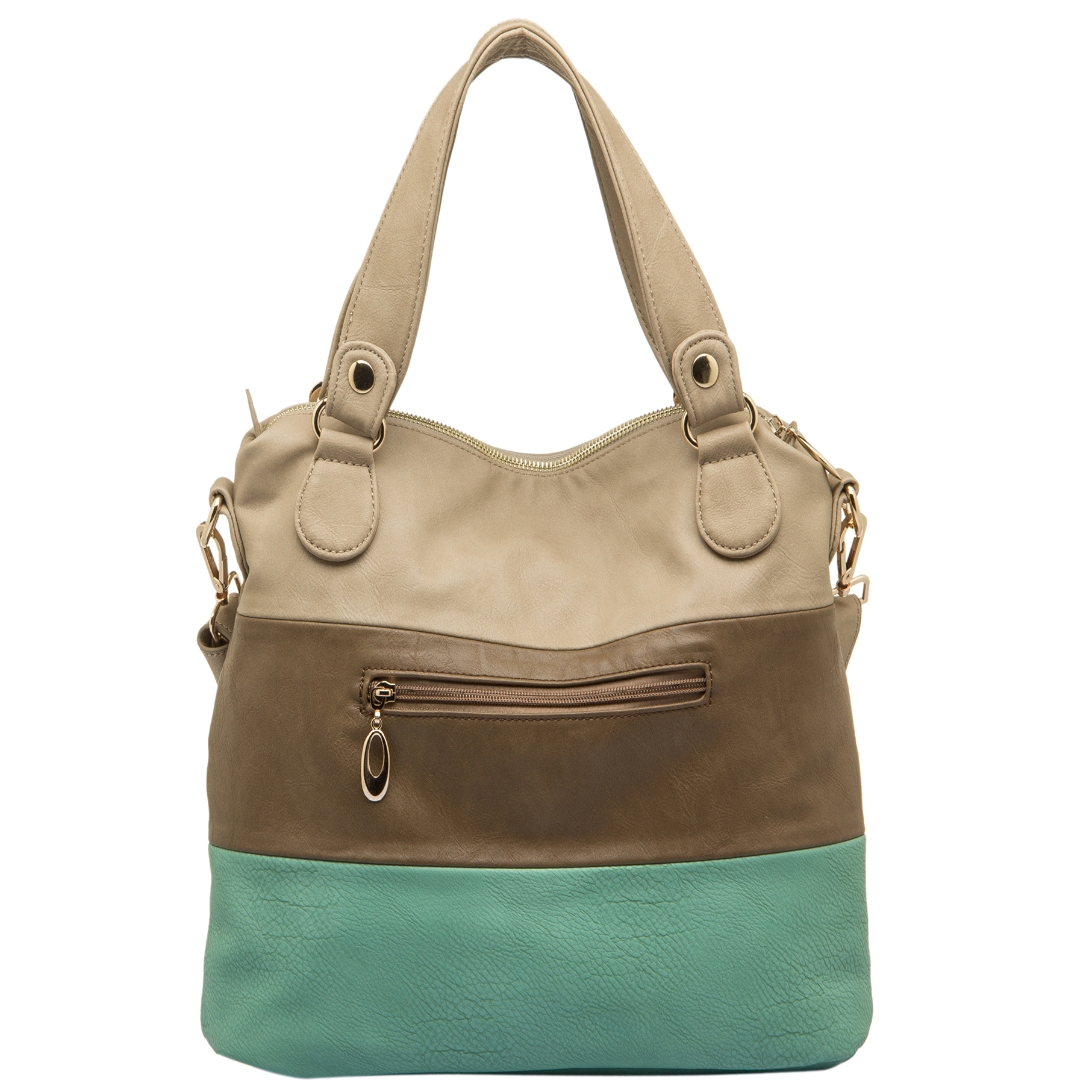 ECE Turquoise Tri-tone Hobo Handbag Back