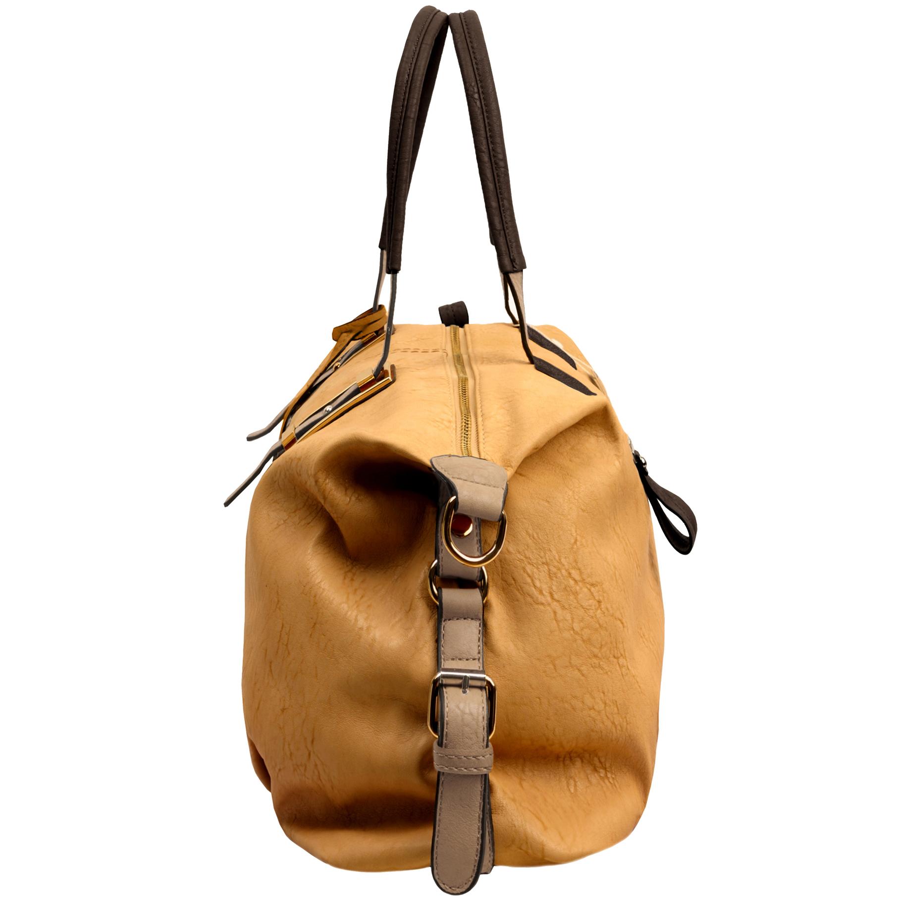 ACACIA Caramel Large Everyday Shopper Hobo Handbag Side