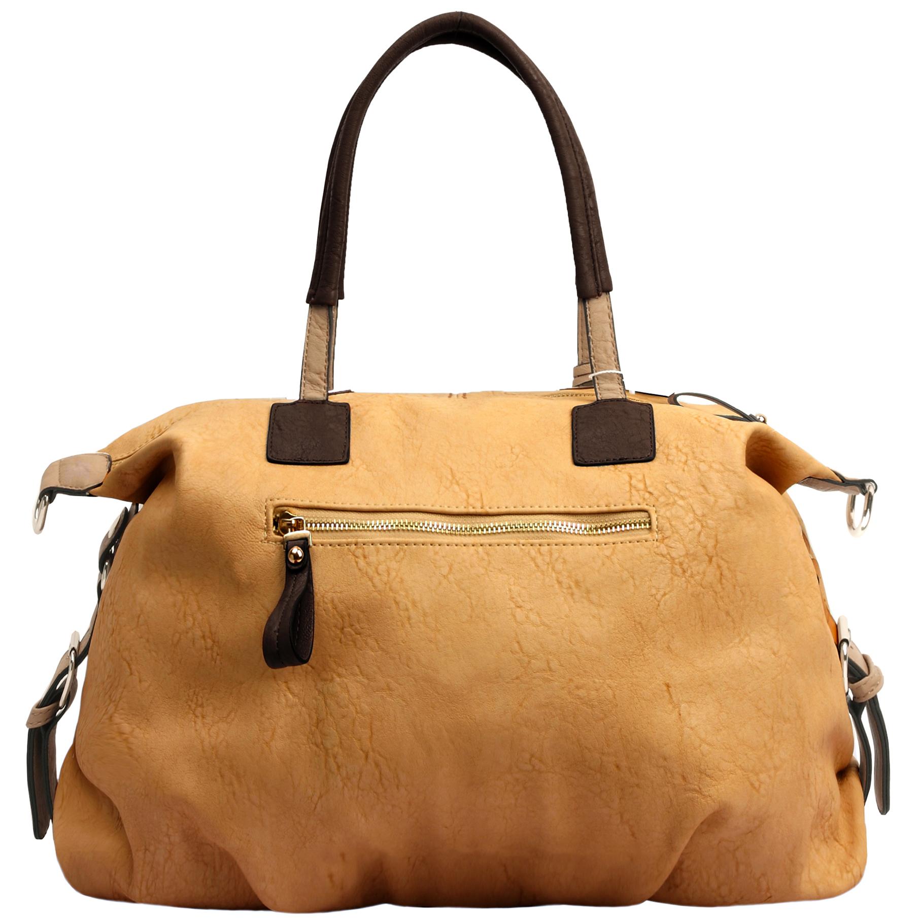 ACACIA Caramel Large Everyday Shopper Hobo Handbag Back