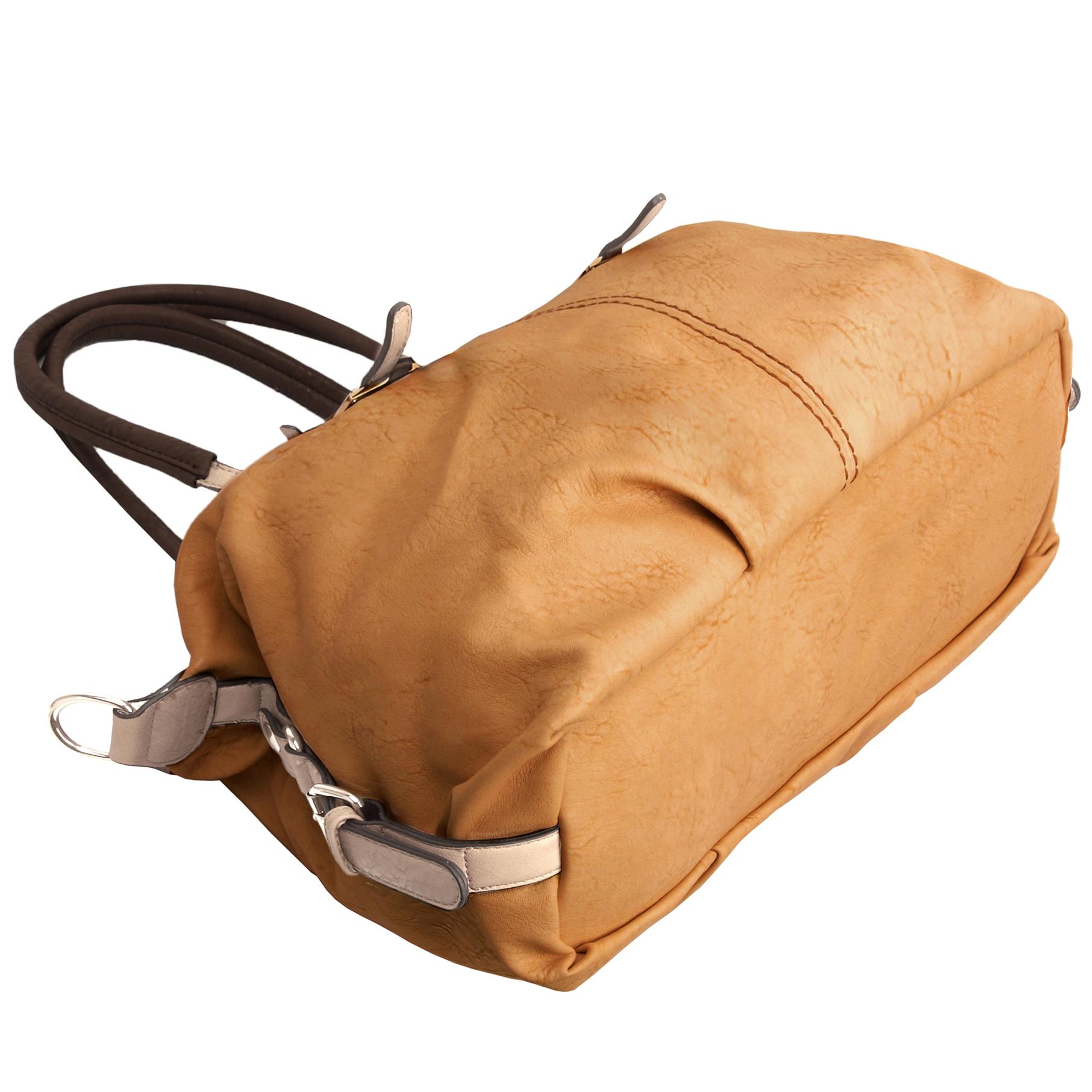ACACIA Caramel Large Everyday Shopper Hobo Handbag Bottom