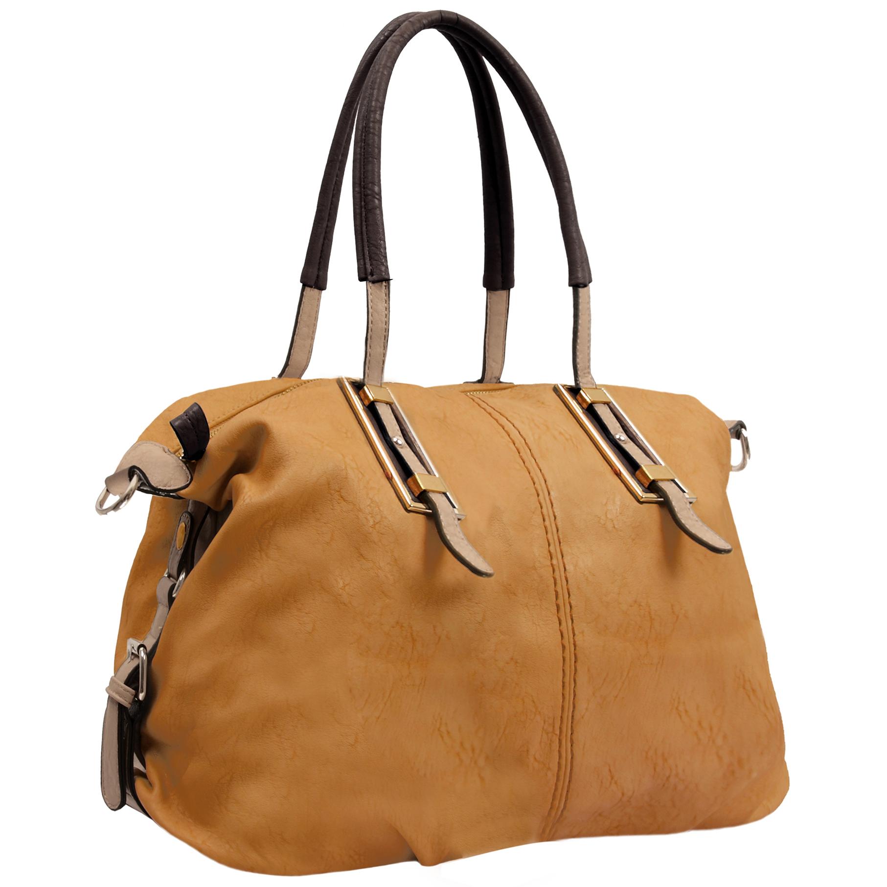 ACACIA Caramel Large Everyday Shopper Hobo Handbag Main