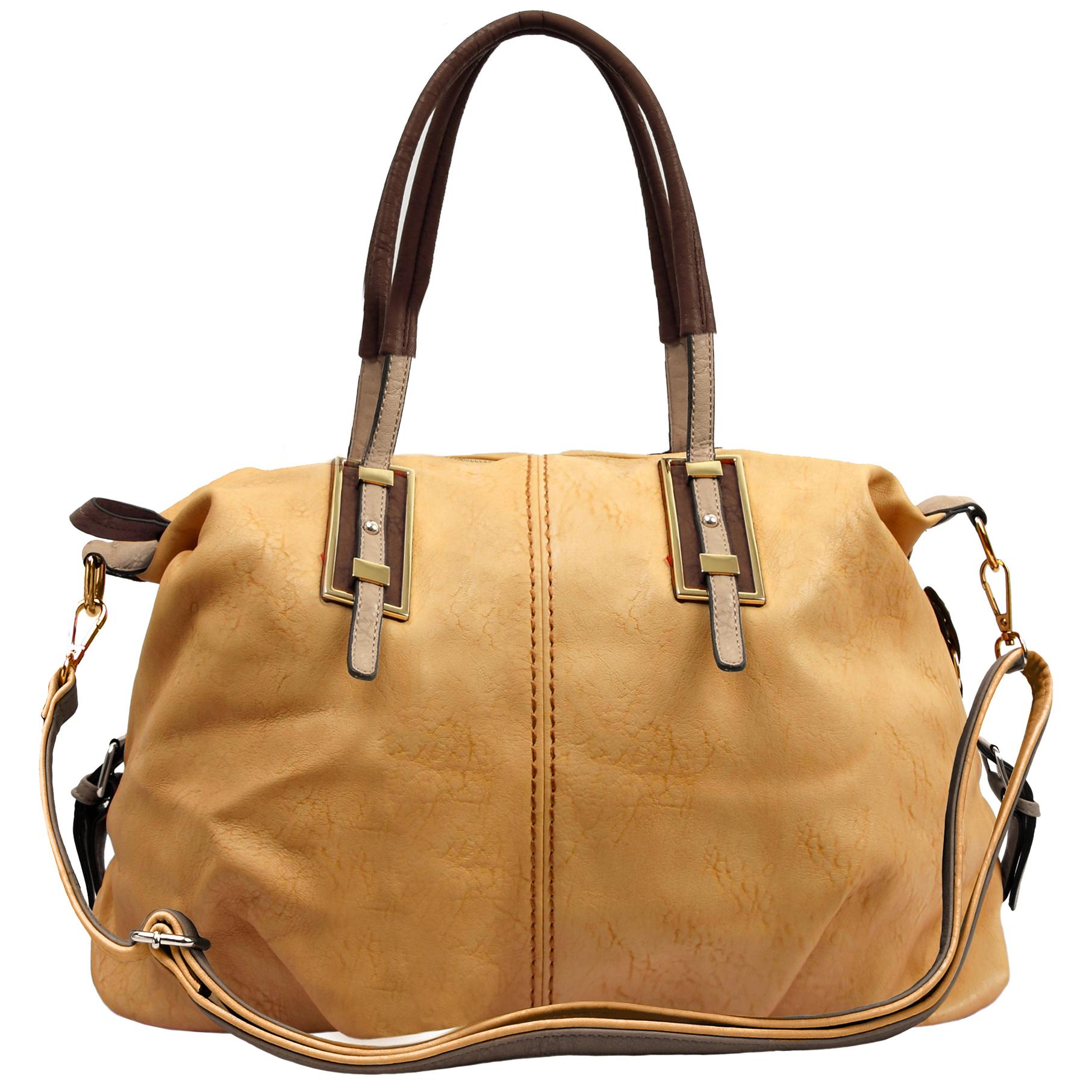 ACACIA Caramel Large Everyday Shopper Hobo Handbag Front