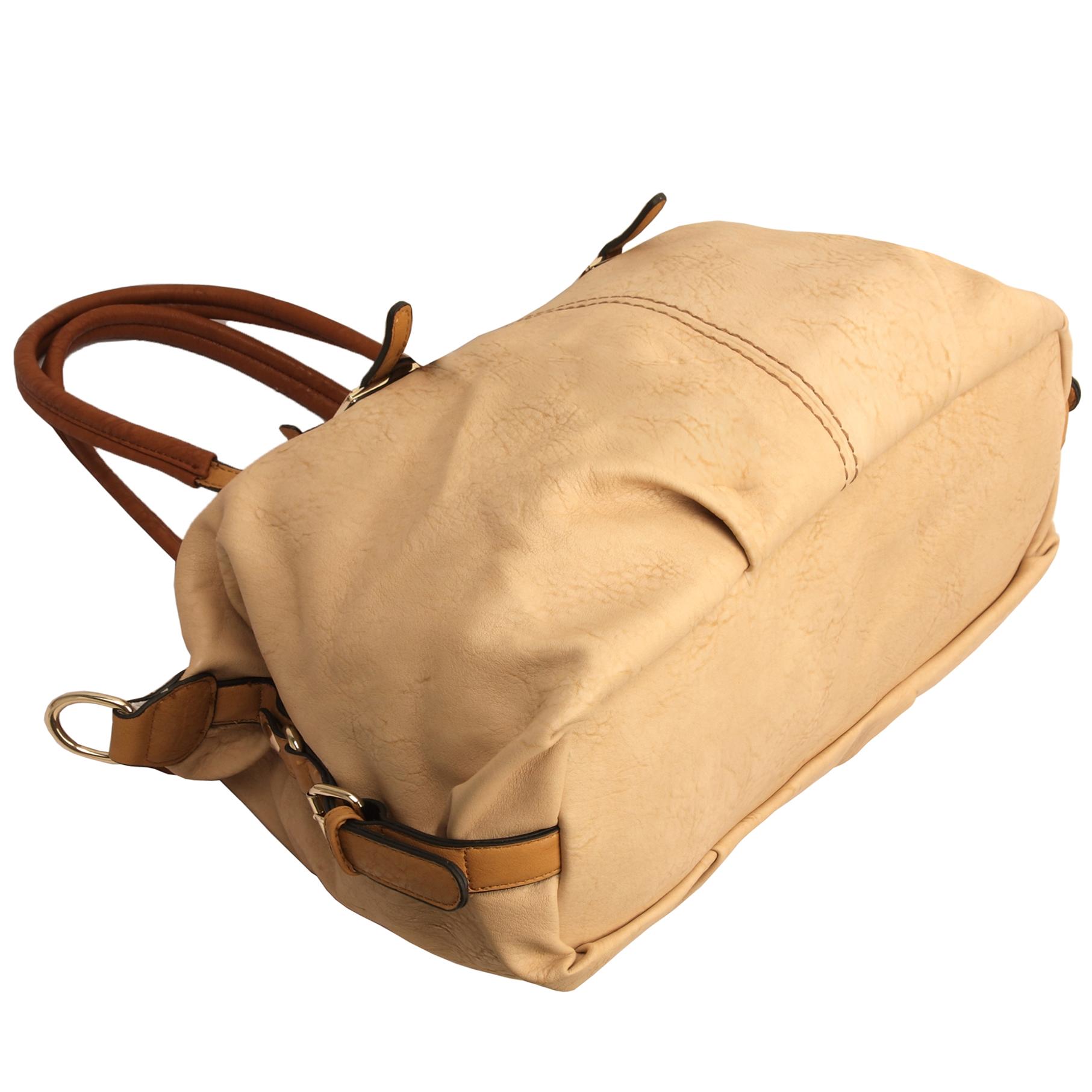 ACACIA Nude Large Everyday Shopper Hobo Handbag Bottom