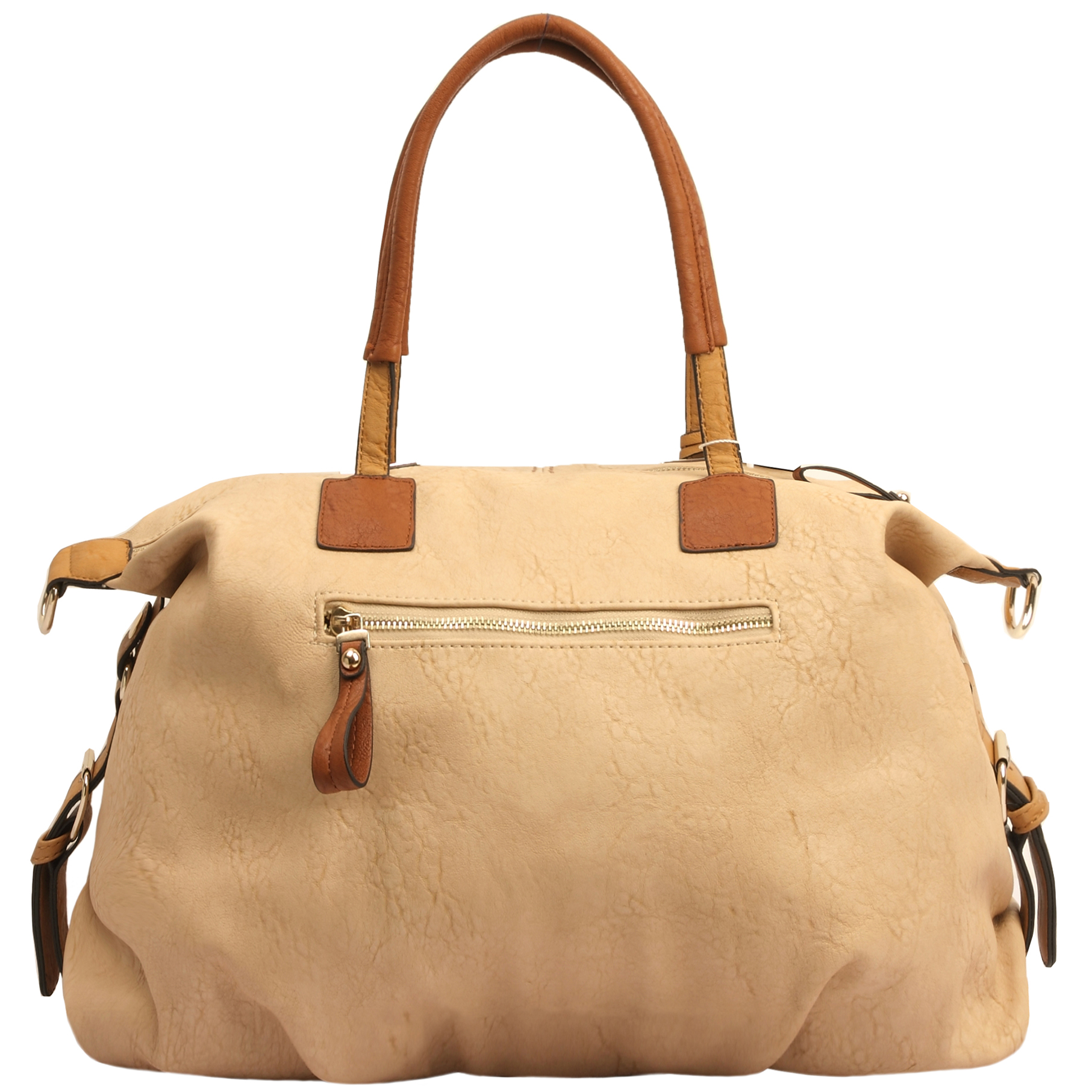 ACACIA Nude Large Everyday Shopper Hobo Handbag Back