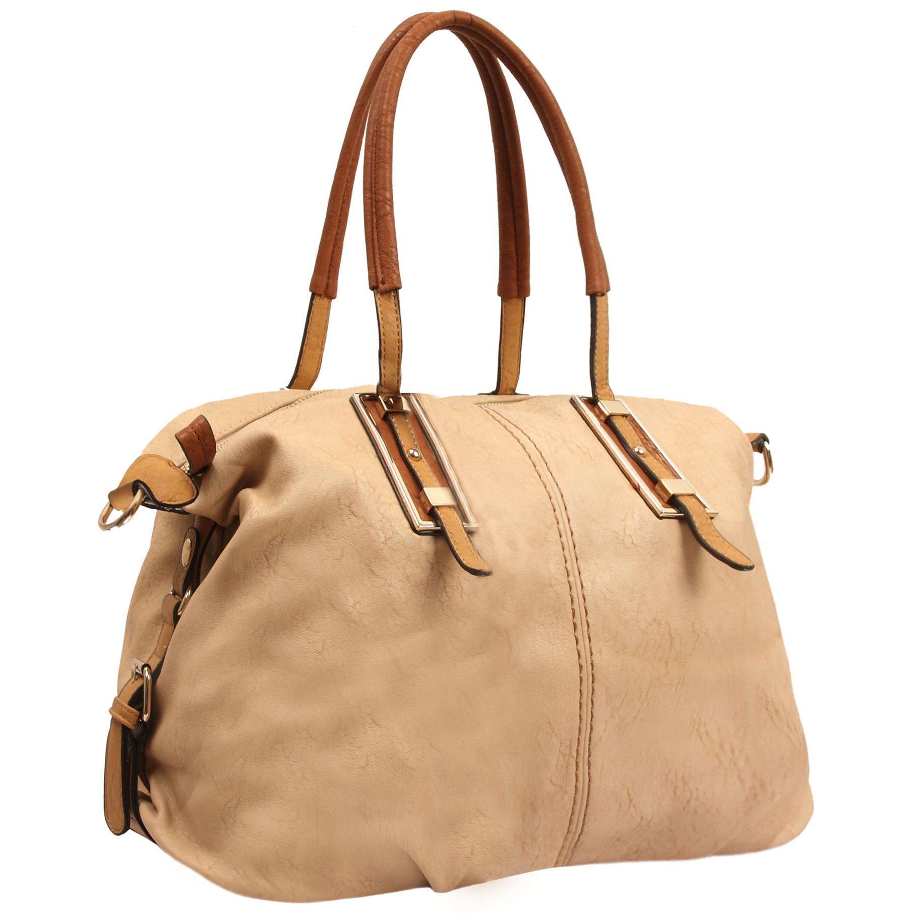 ACACIA Nude Large Everyday Shopper Hobo Handbag Main