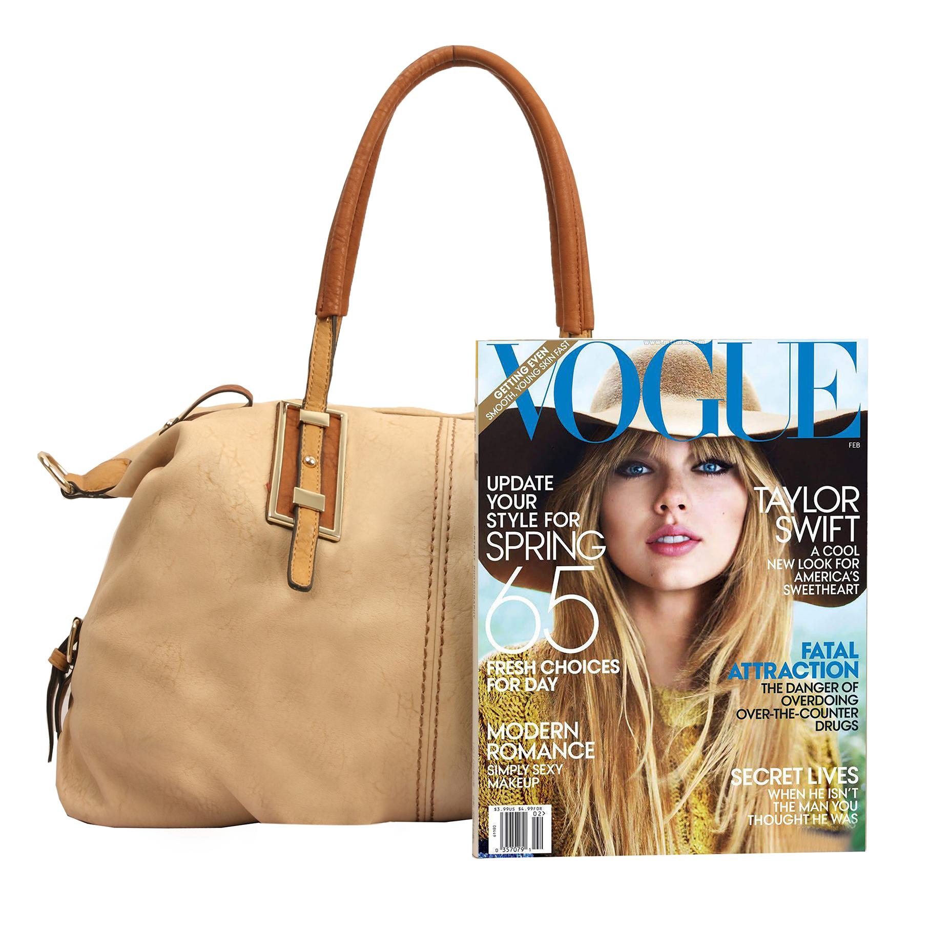 ACACIA Nude Large Everyday Shopper Hobo Handbag Size