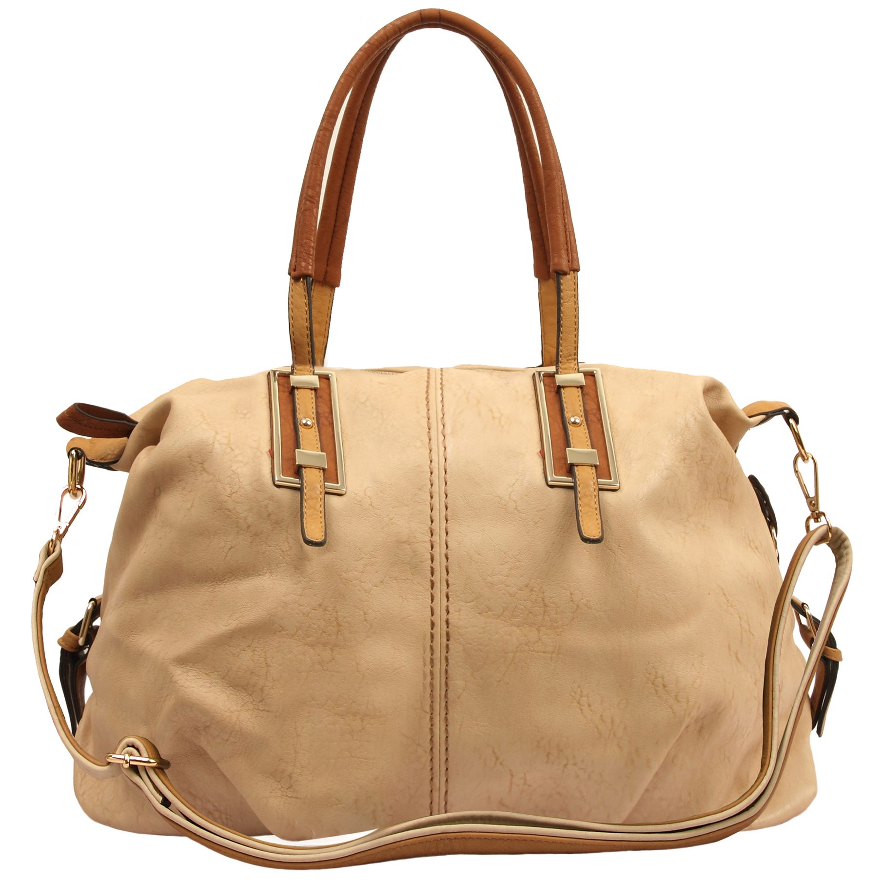 ACACIA Nude Large Everyday Shopper Hobo Handbag Front