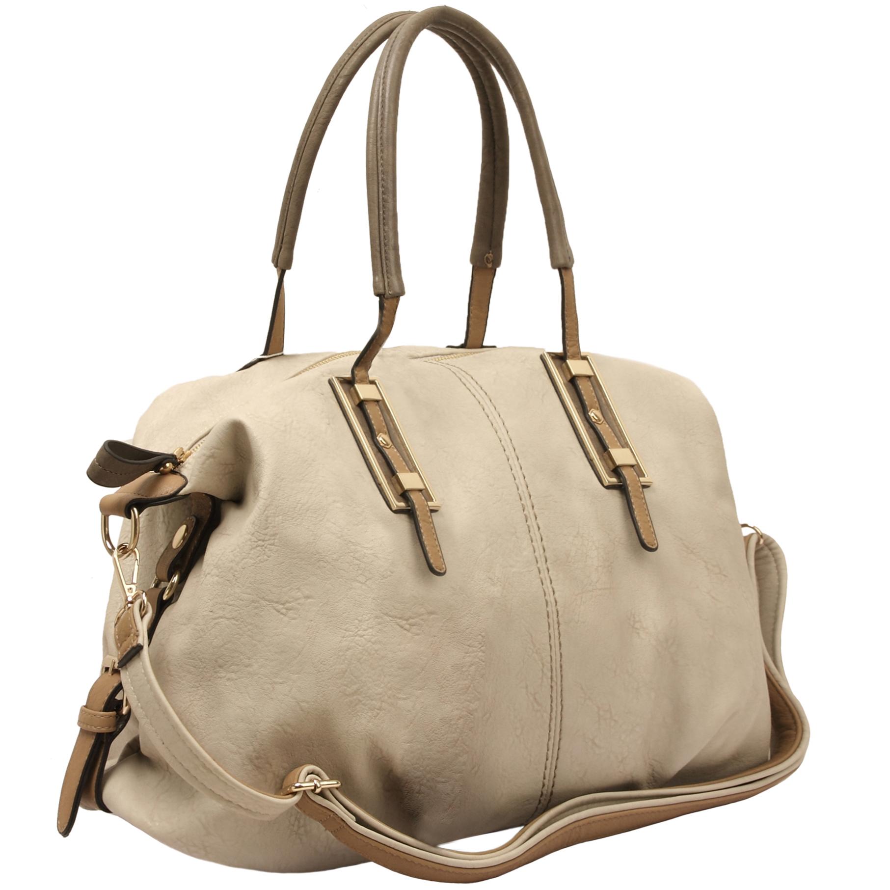ACACIA Grey Large Everyday Shopper Hobo Handbag main
