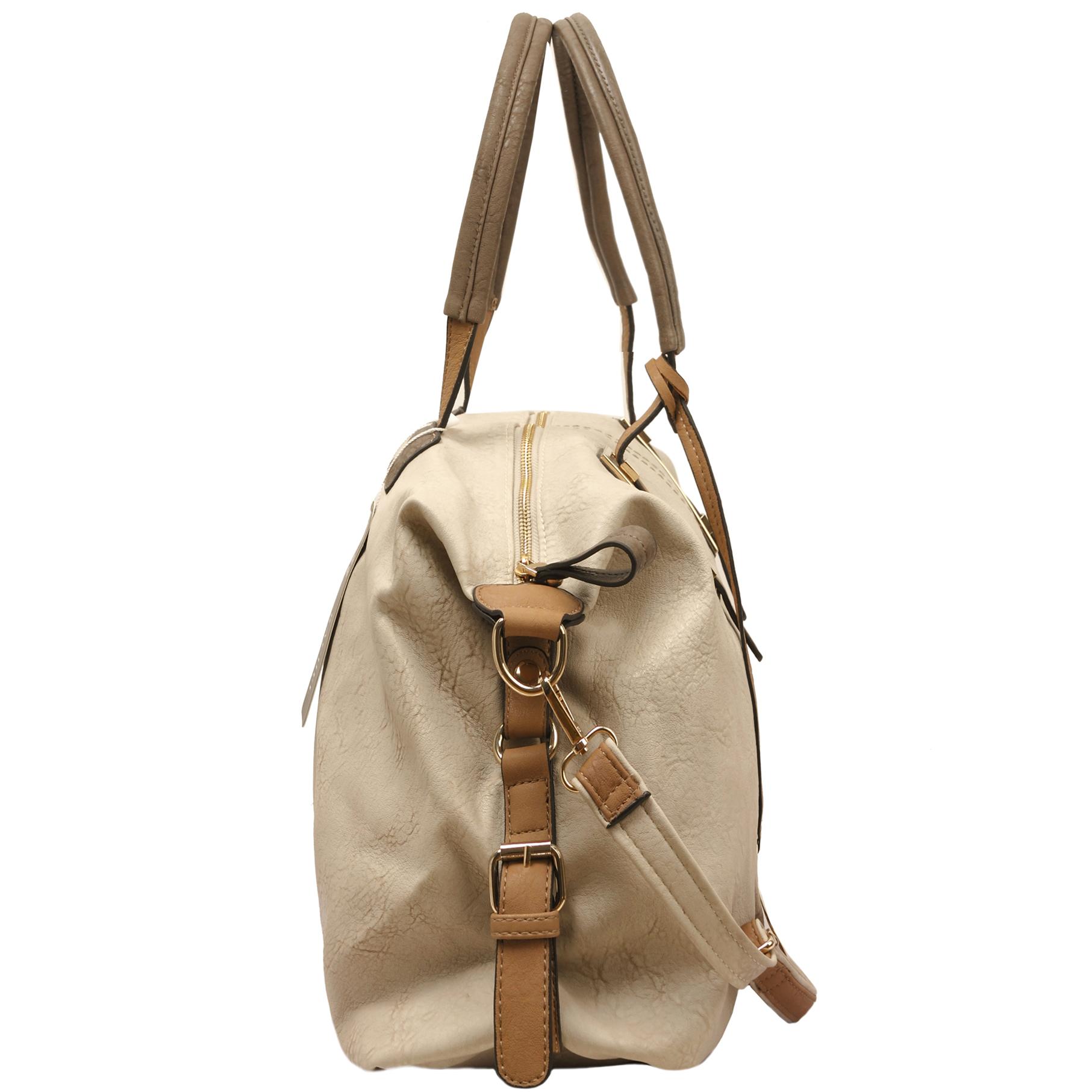ACACIA Grey Large Everyday Shopper Hobo Handbag Side
