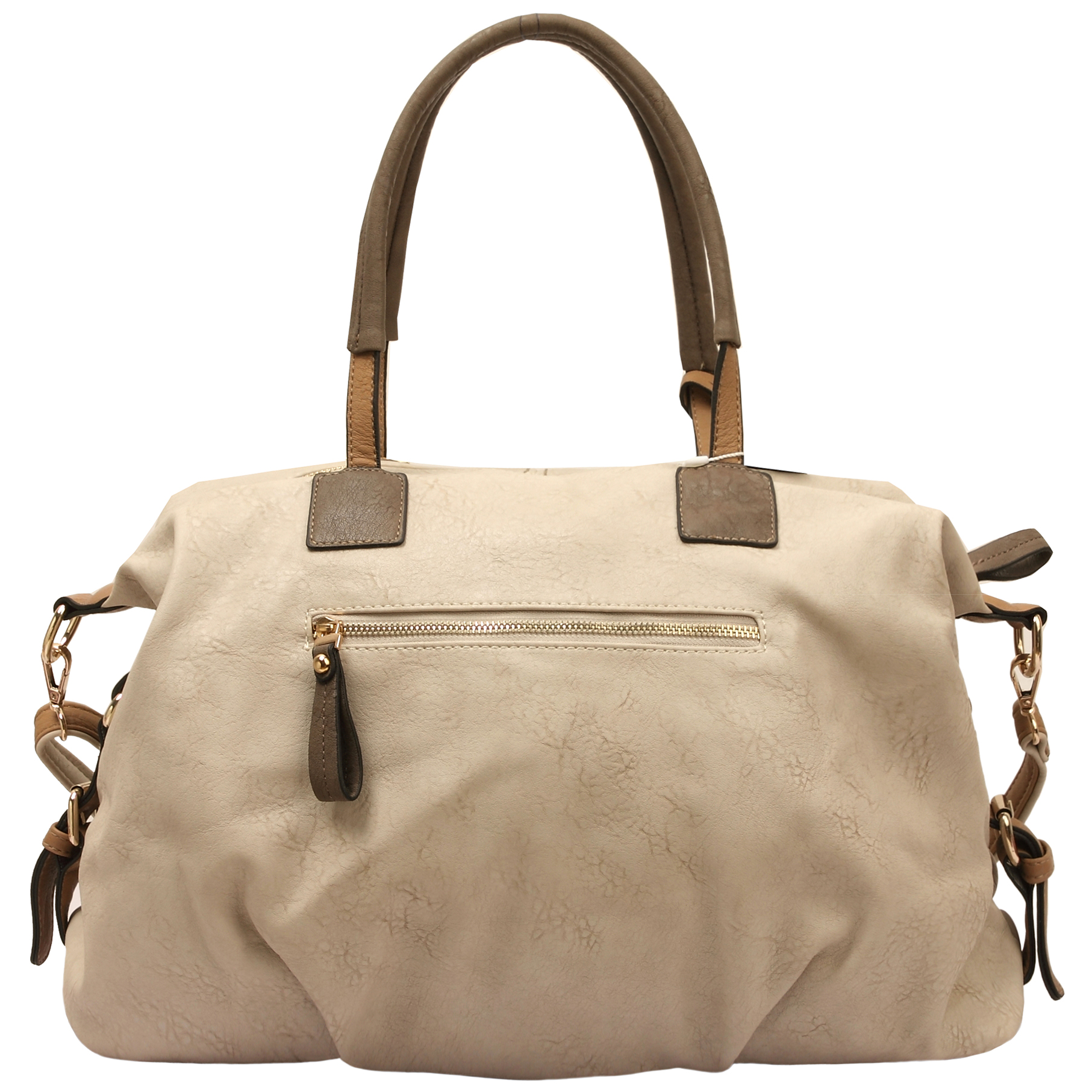 ACACIA Grey Large Everyday Shopper Hobo Handbag Back
