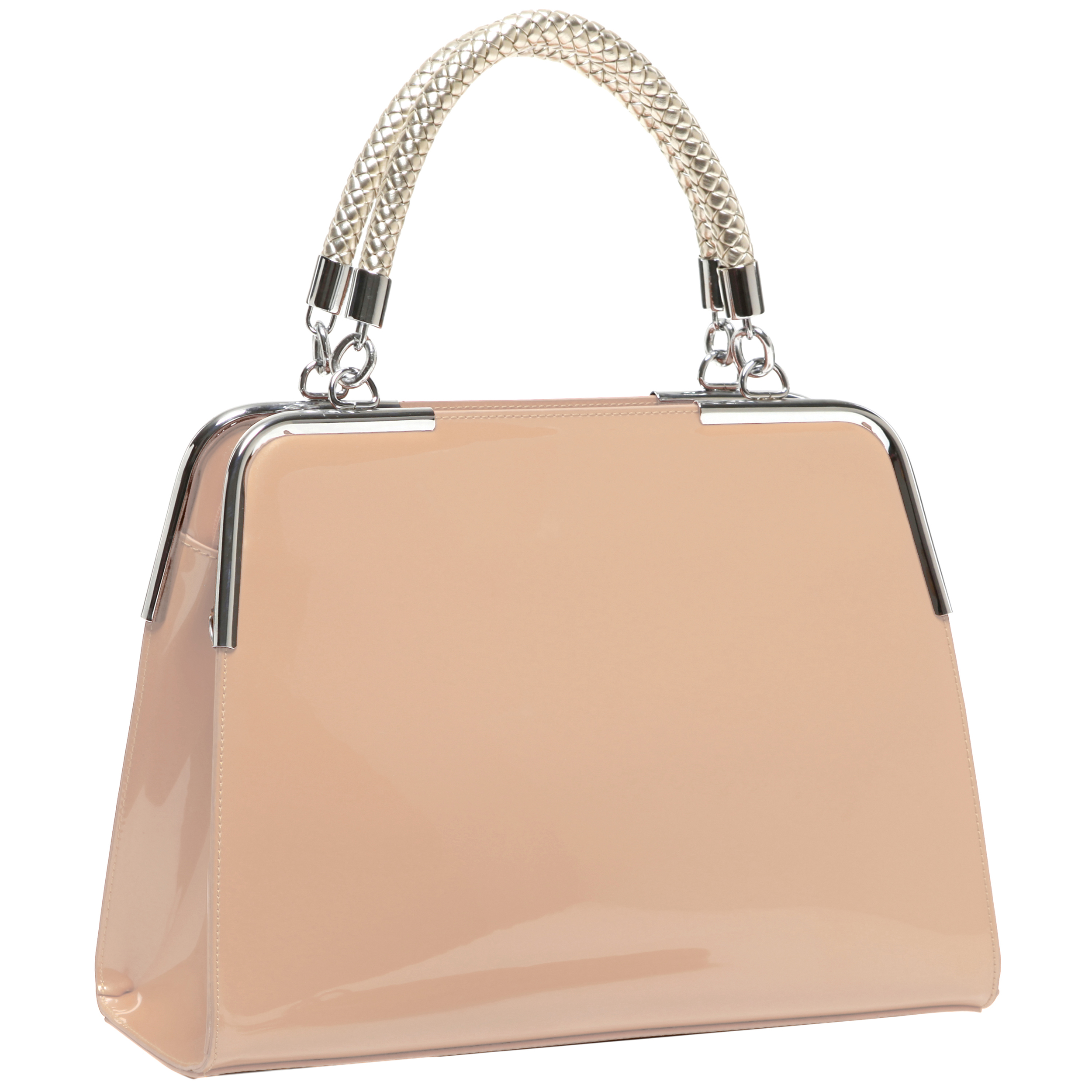 MATANA Nude Gloss Tote Purse Main