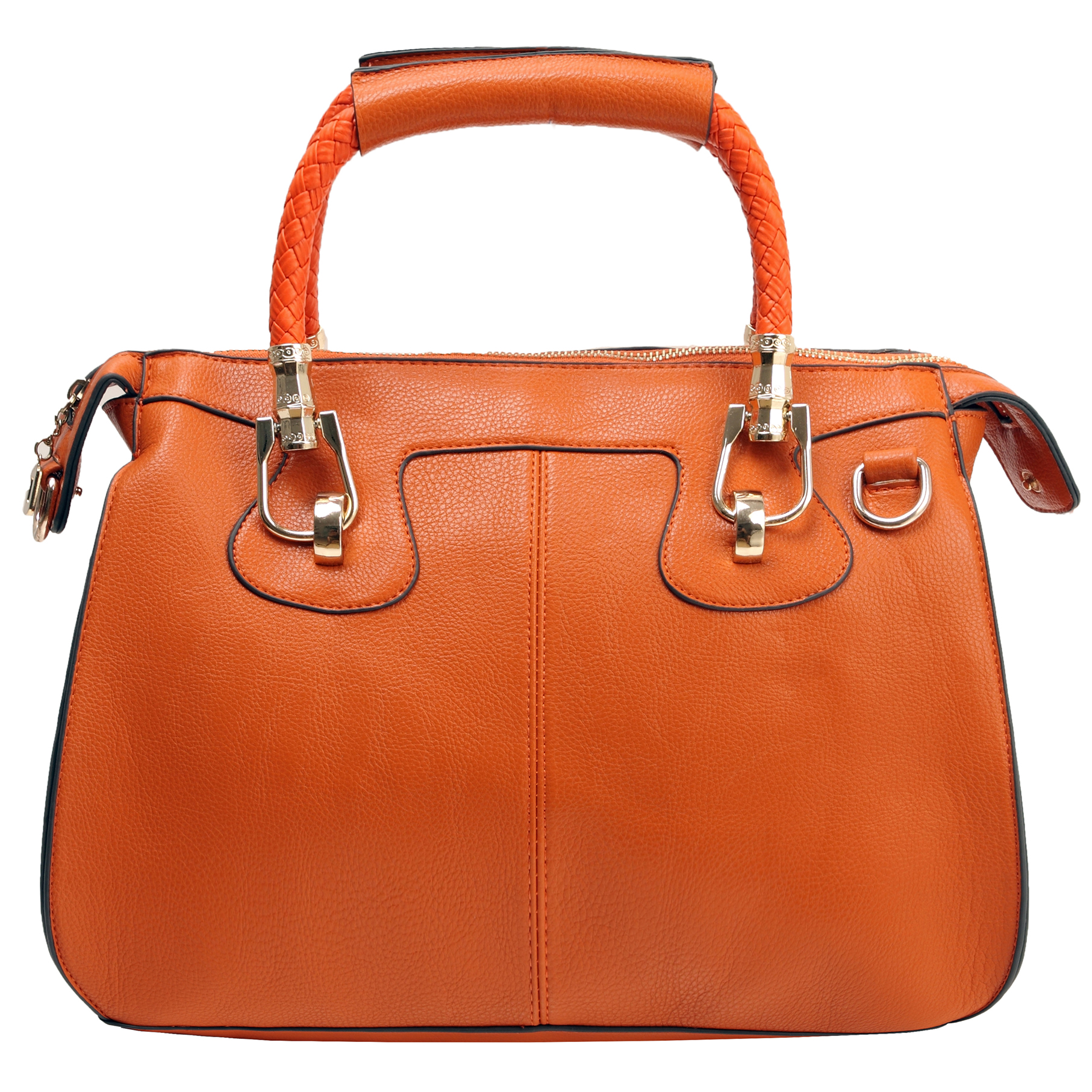MARISSA Orange Doctor Style Handbag Front