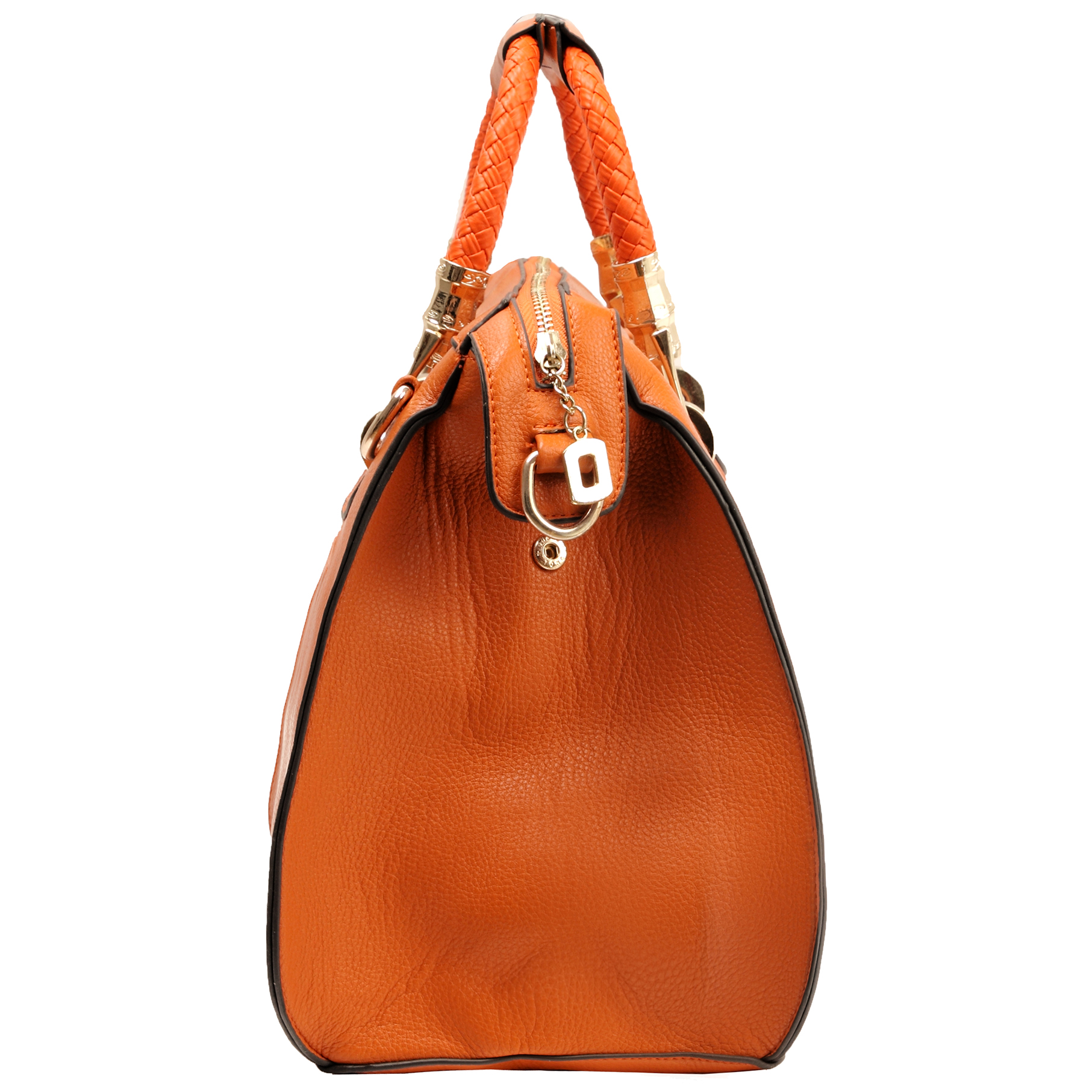MARISSA Orange Doctor Style Handbag Side