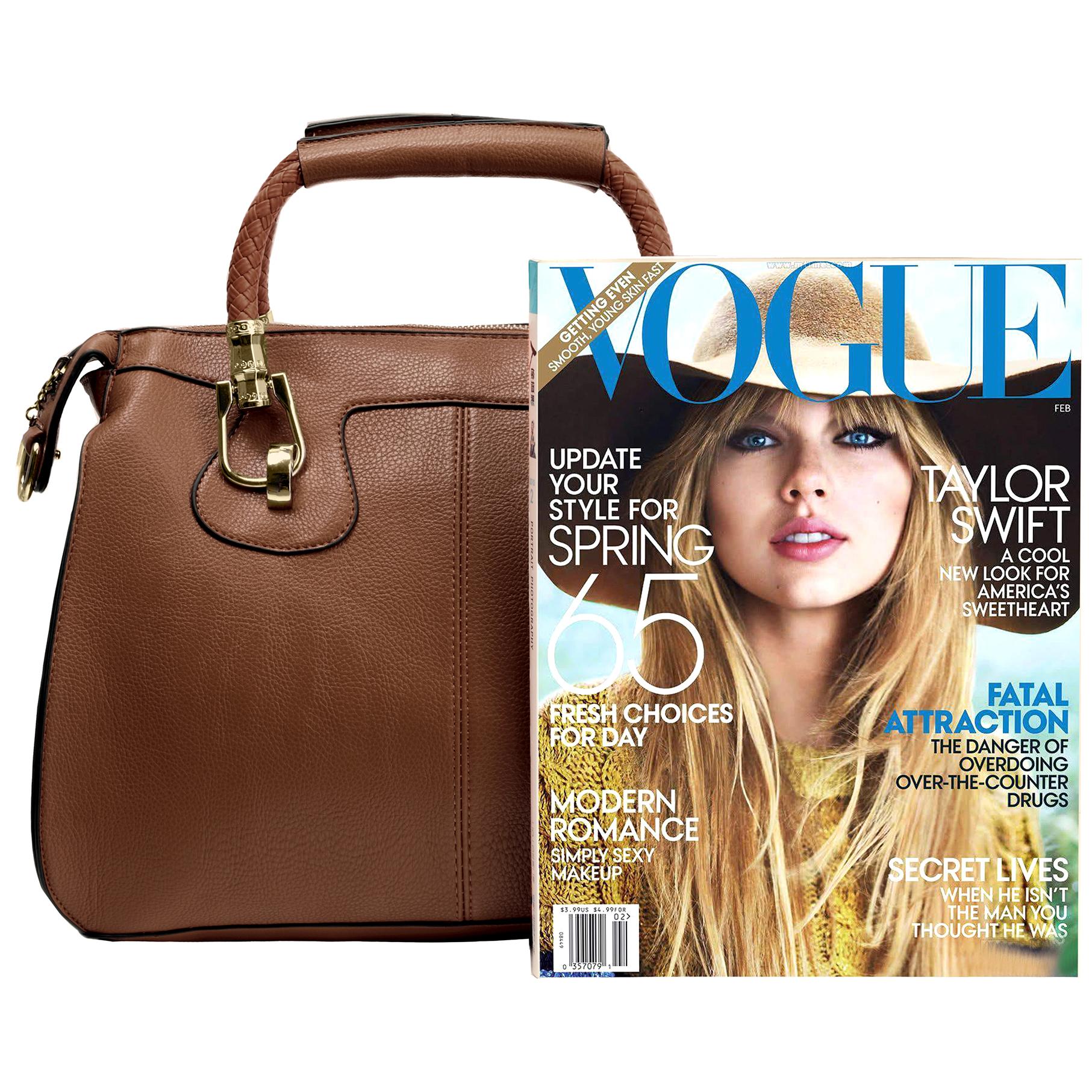 MARISSA Brown Doctor Style Handbag Size