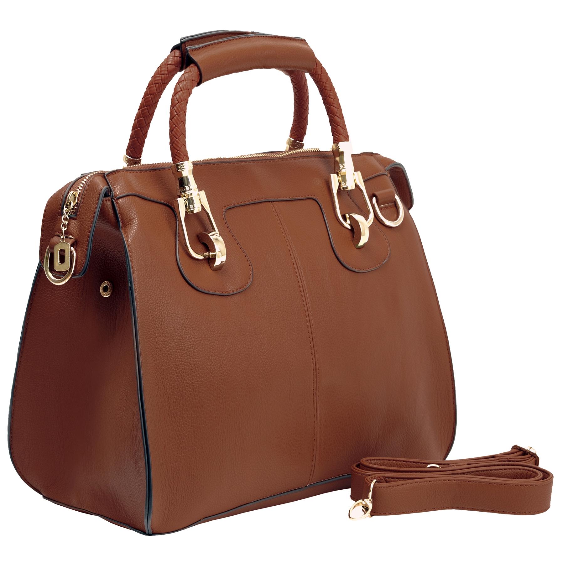MARISSA Brown Doctor Style Handbag Main