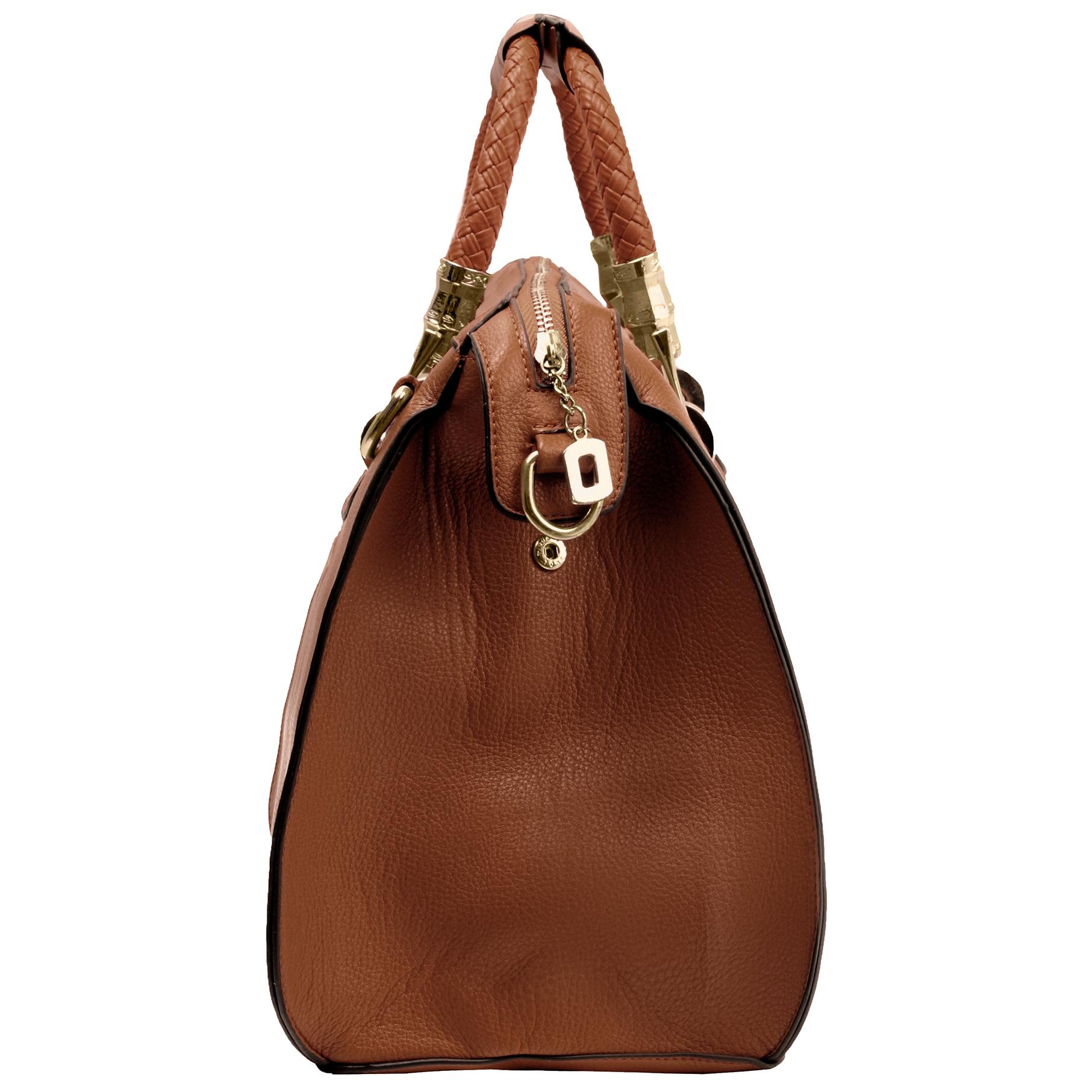 MARISSA Brown Doctor Style Handbag Side