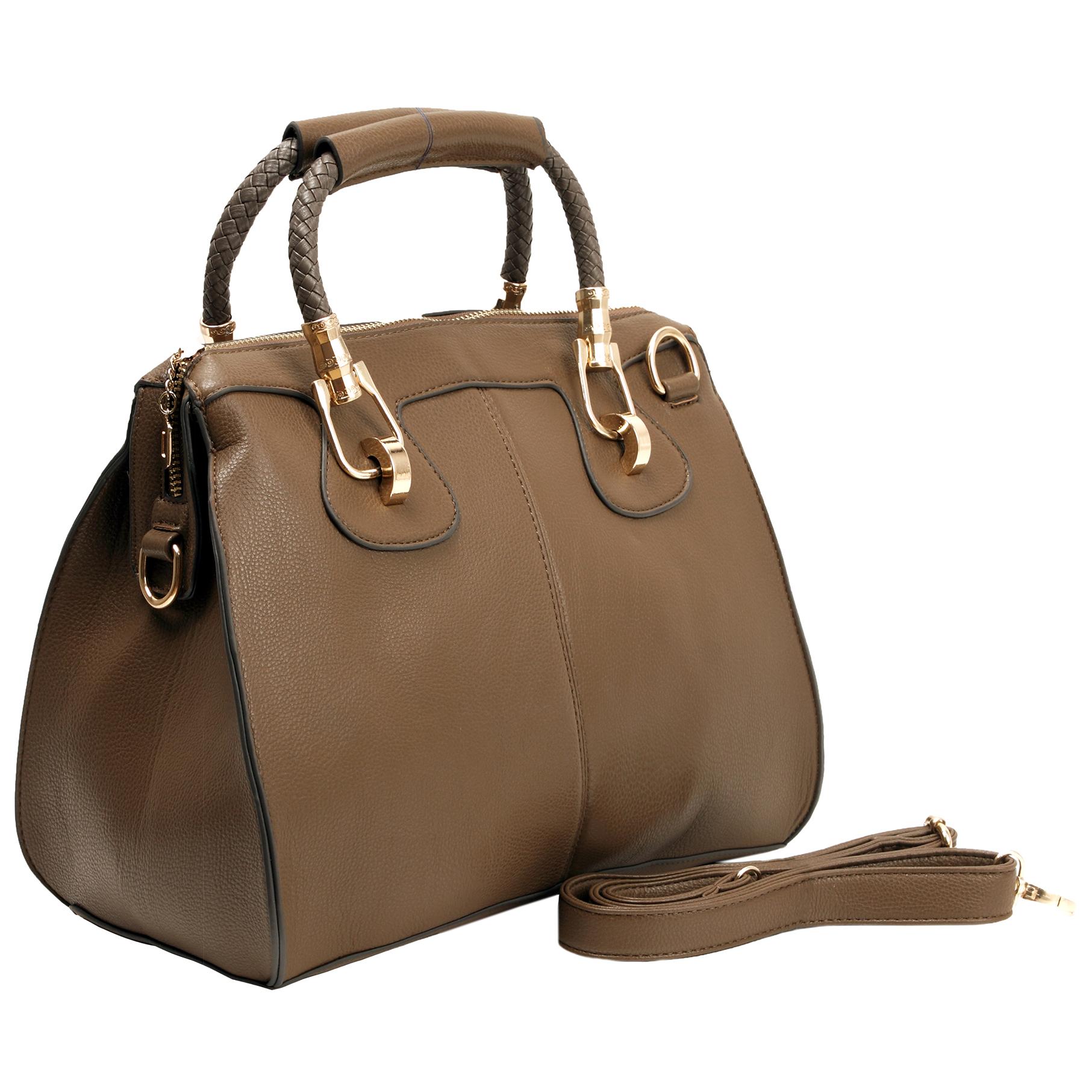MARISSA Taupe Doctor Style Handbag Main