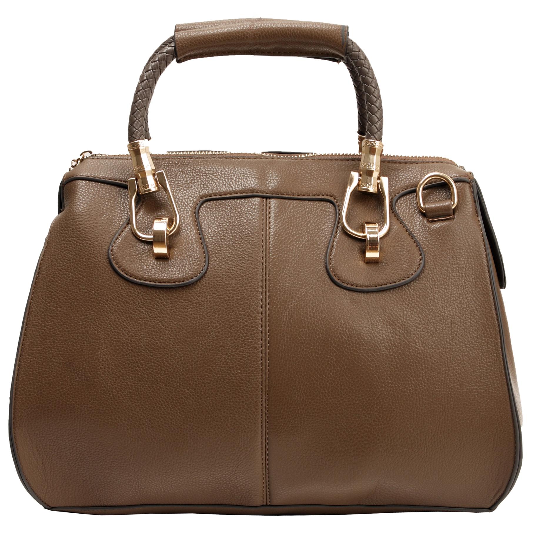 MARISSA Taupe Doctor Style Handbag Front