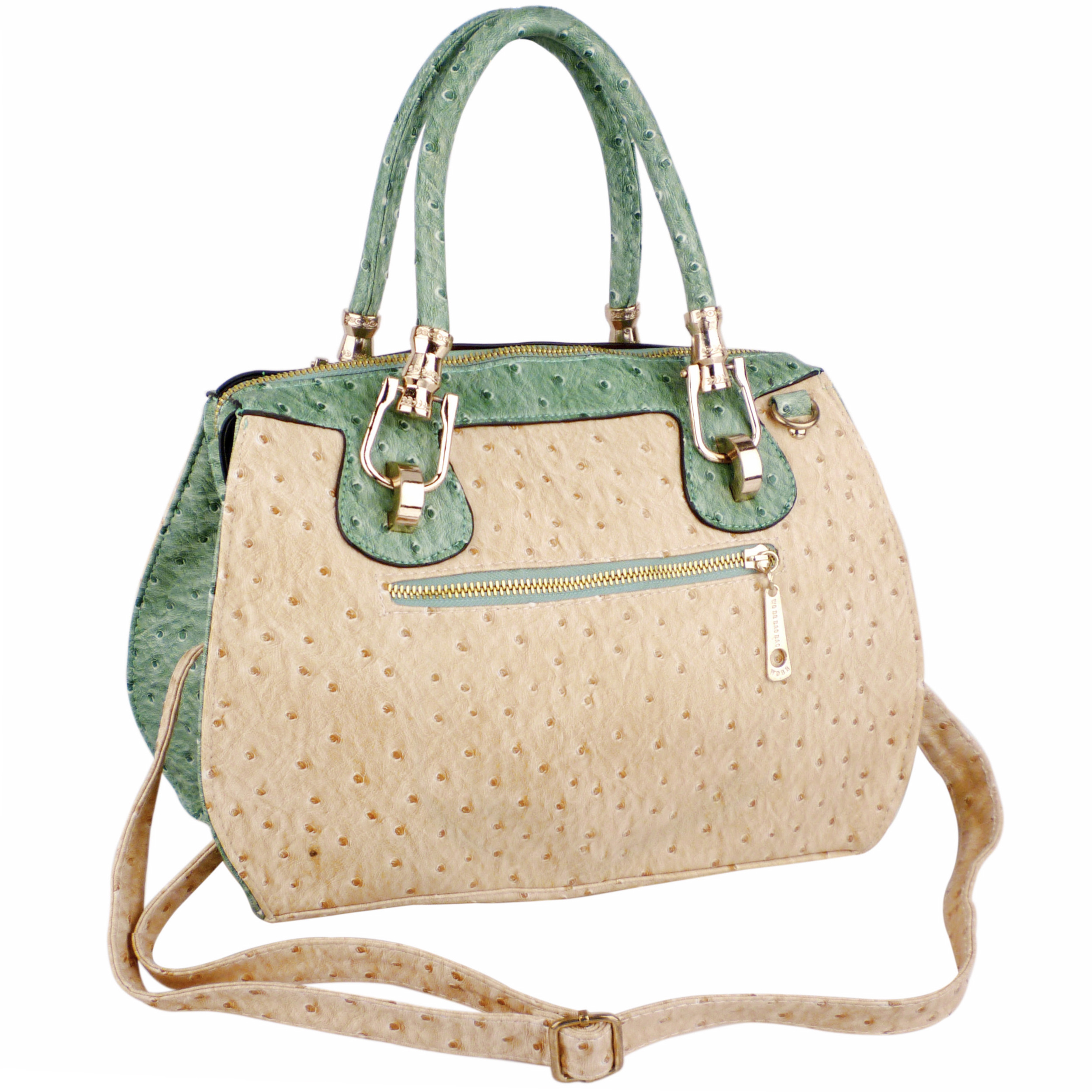 MARISSA Green Doctor Style Handbag Back