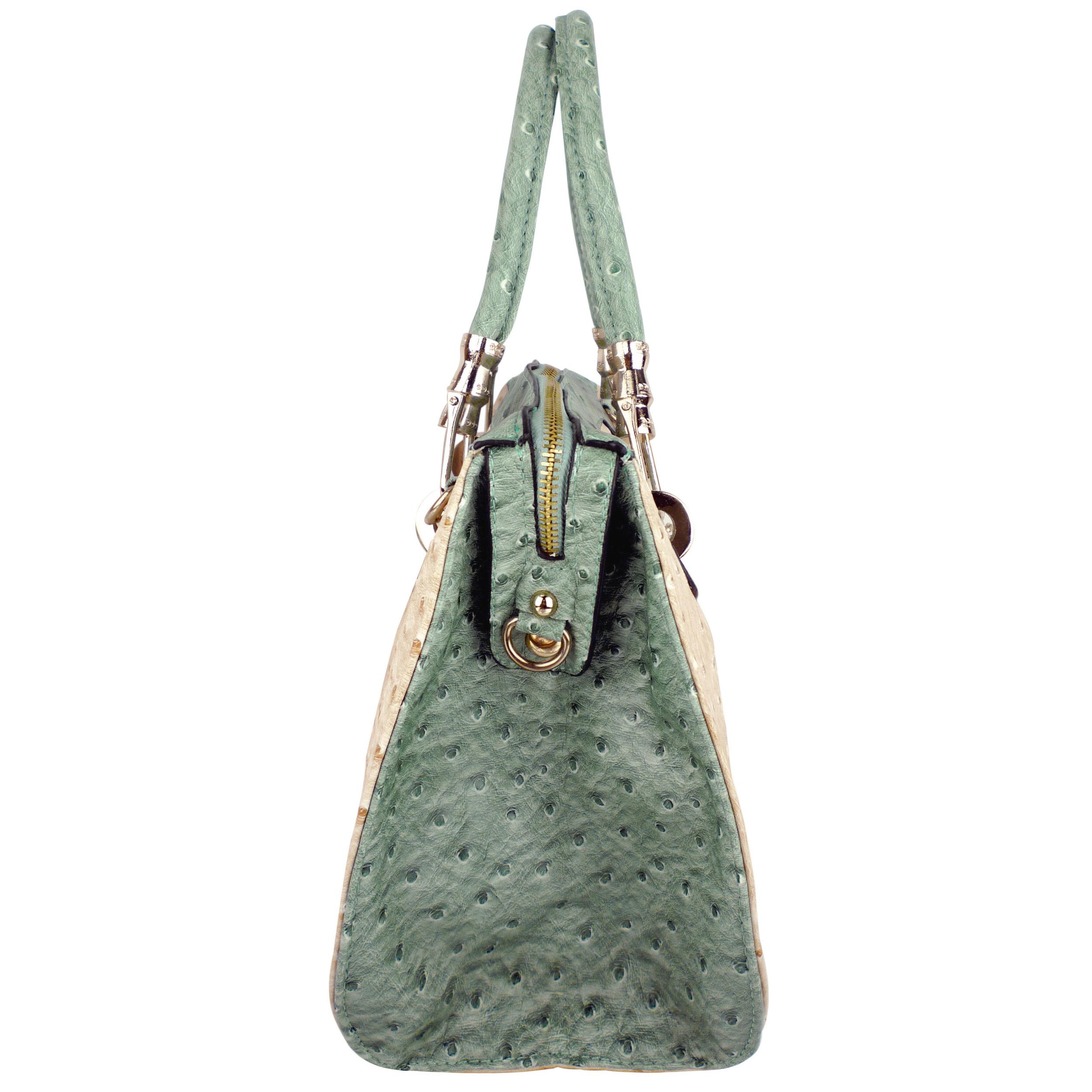 MARISSA Green Doctor Style Handbag Side