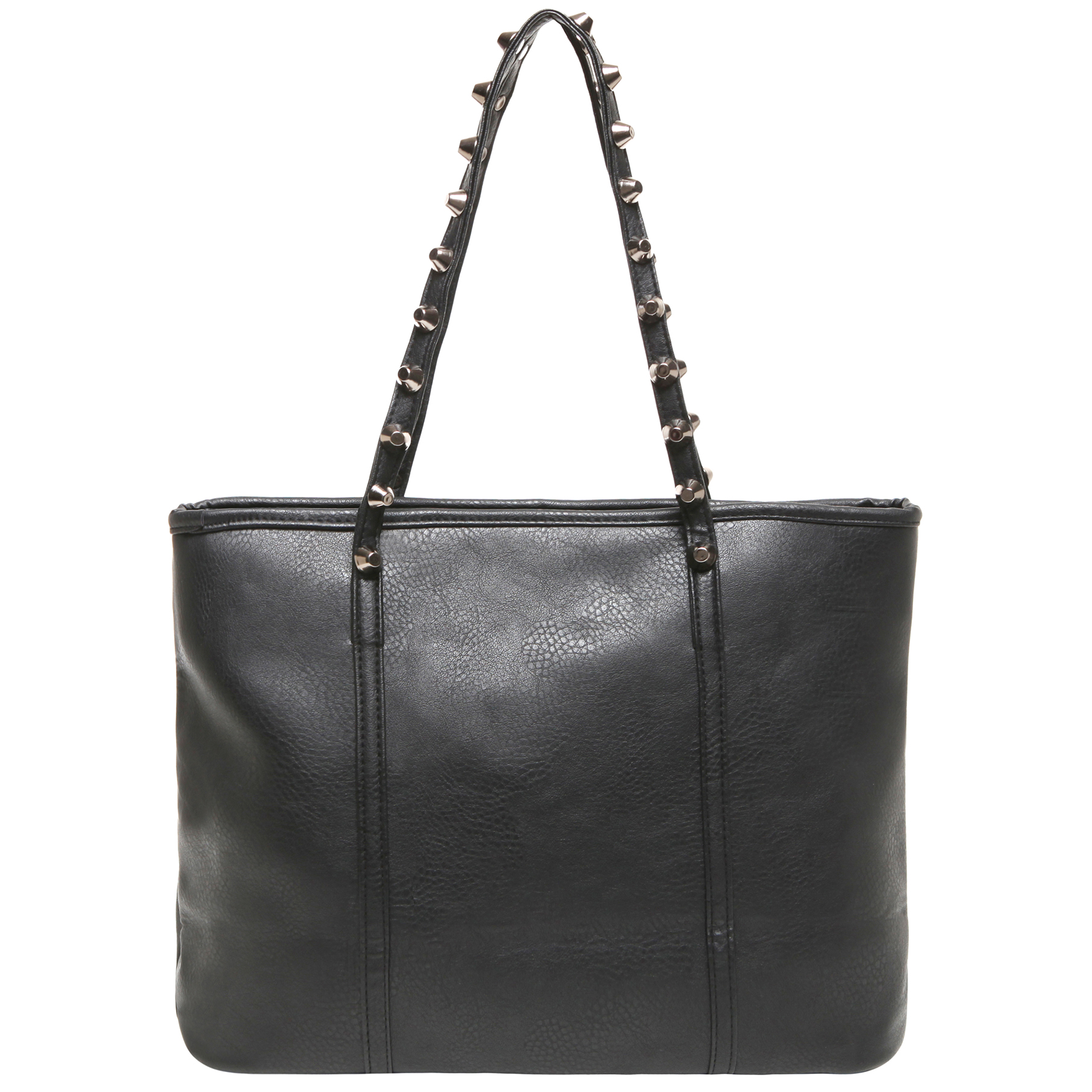 ALDA Black Studded Shopper Tote Purse Back