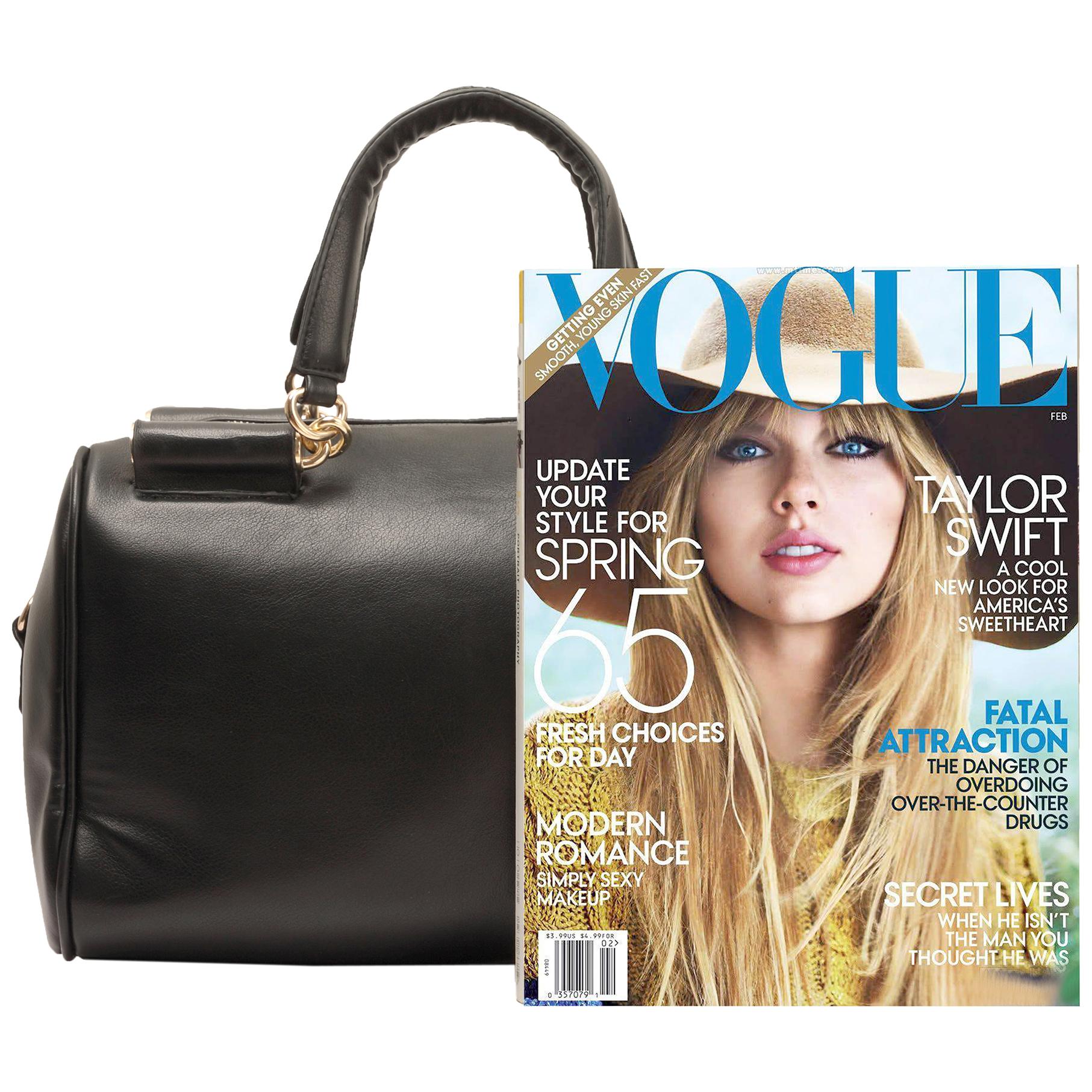 Cierra black doctor style handbag size comparison image