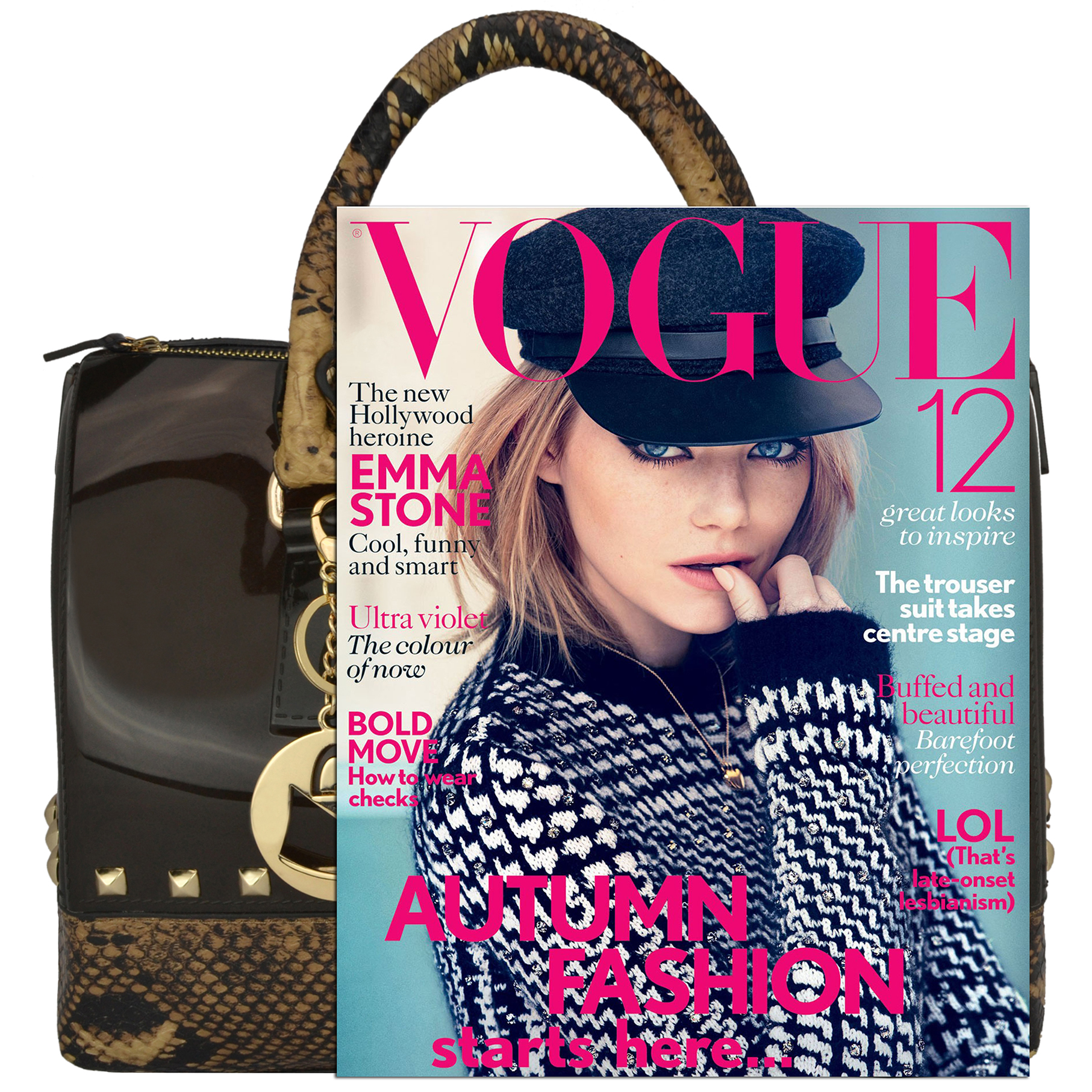 AMANI brown Jessie Style Doctor Handbag size comparison image