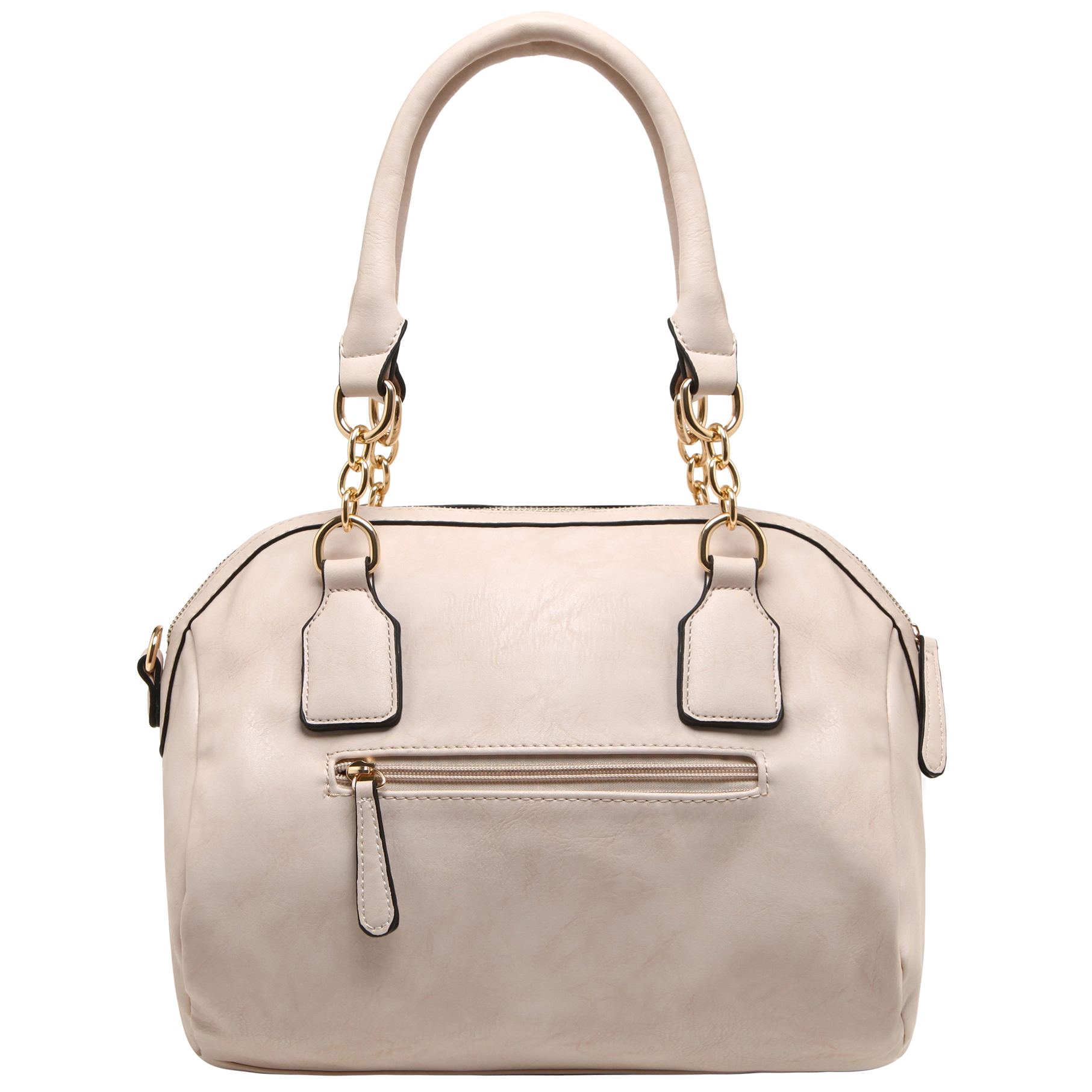 SONIA Beige Barrel Top Handle Tote handbag back image