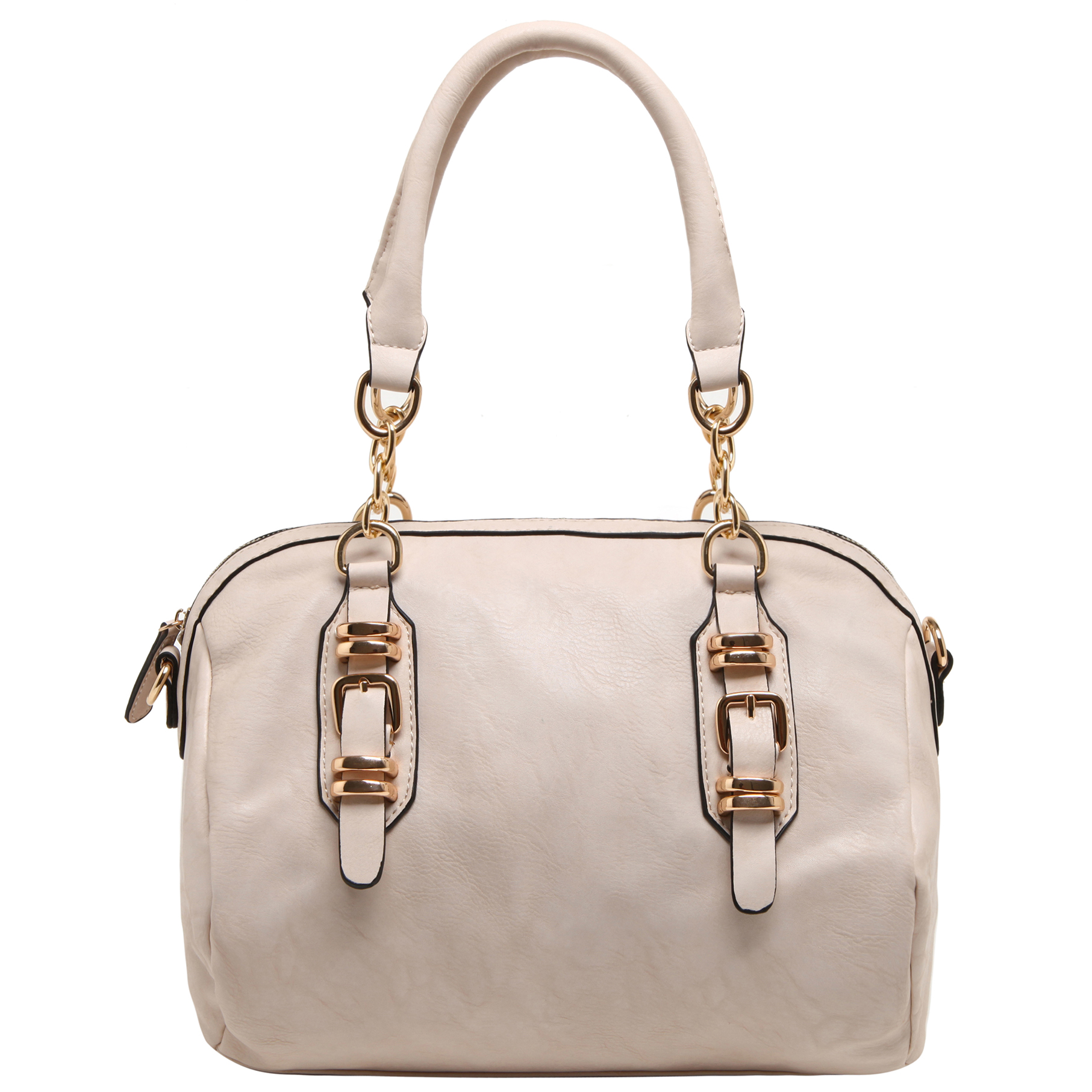 SONIA Beige Barrel Top Handle Tote handbag front image